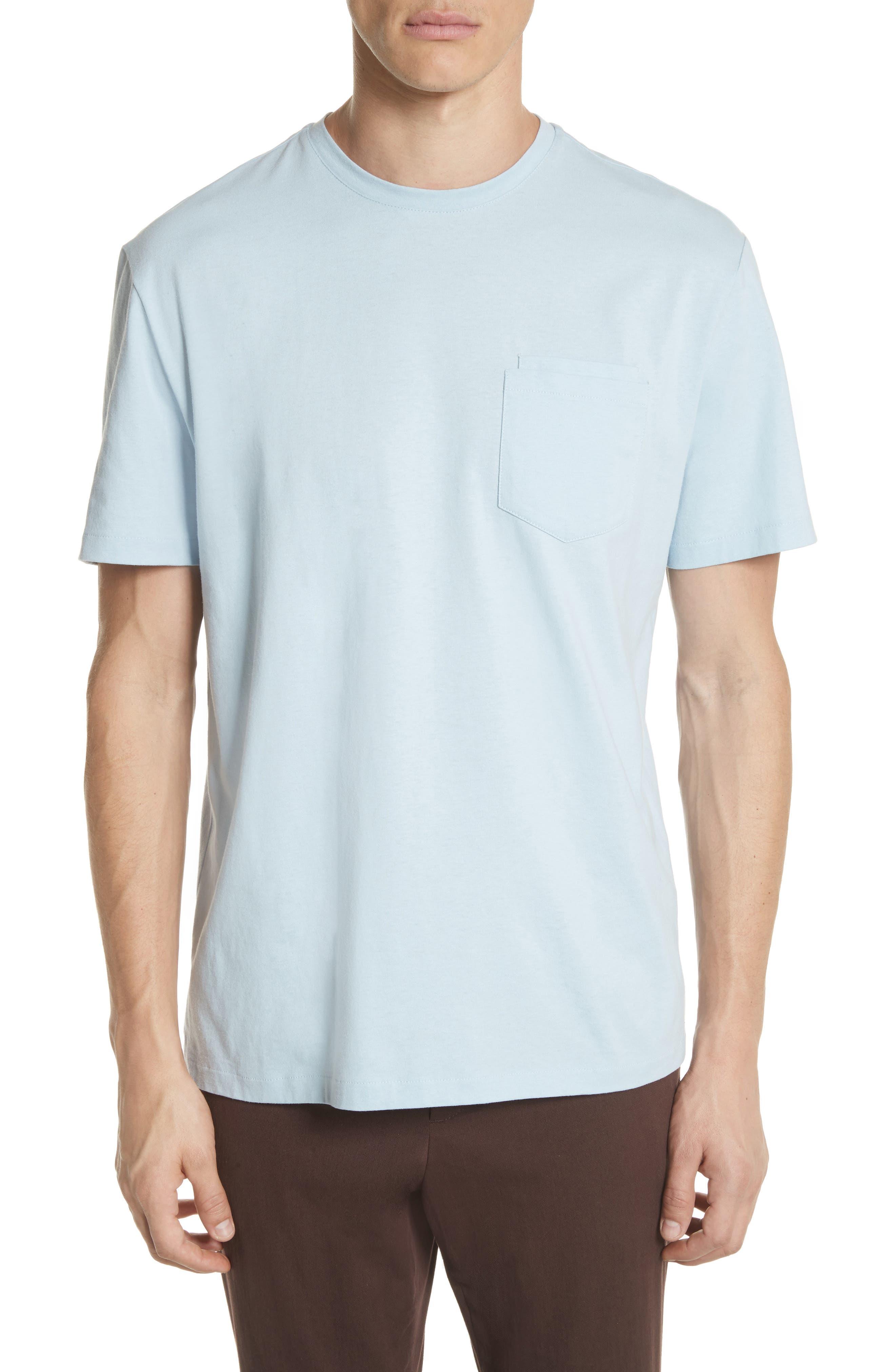 Double Pocket T-Shirt,                         Main,                         color, BLUE