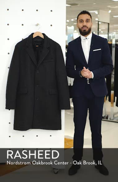 Cunningham Quilted Bib Inset Topcoat, sales video thumbnail