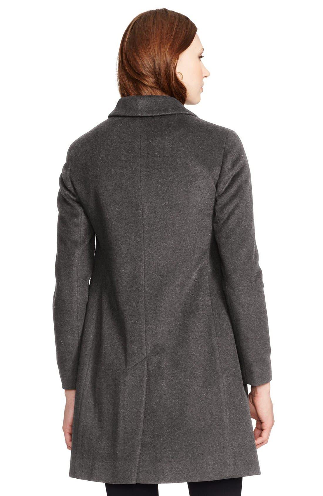 Wool Blend Reefer Coat,                             Alternate thumbnail 30, color,