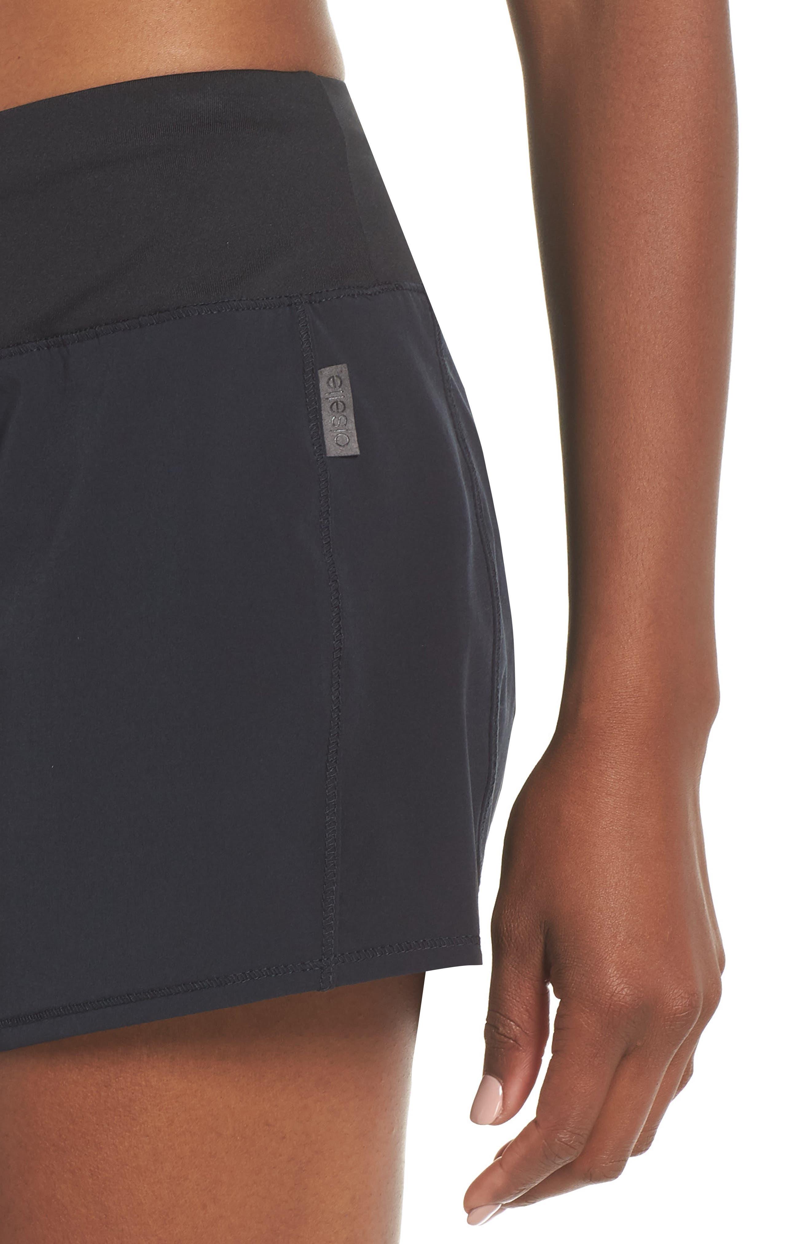 Long Roga Shorts,                             Alternate thumbnail 4, color,                             BLACK