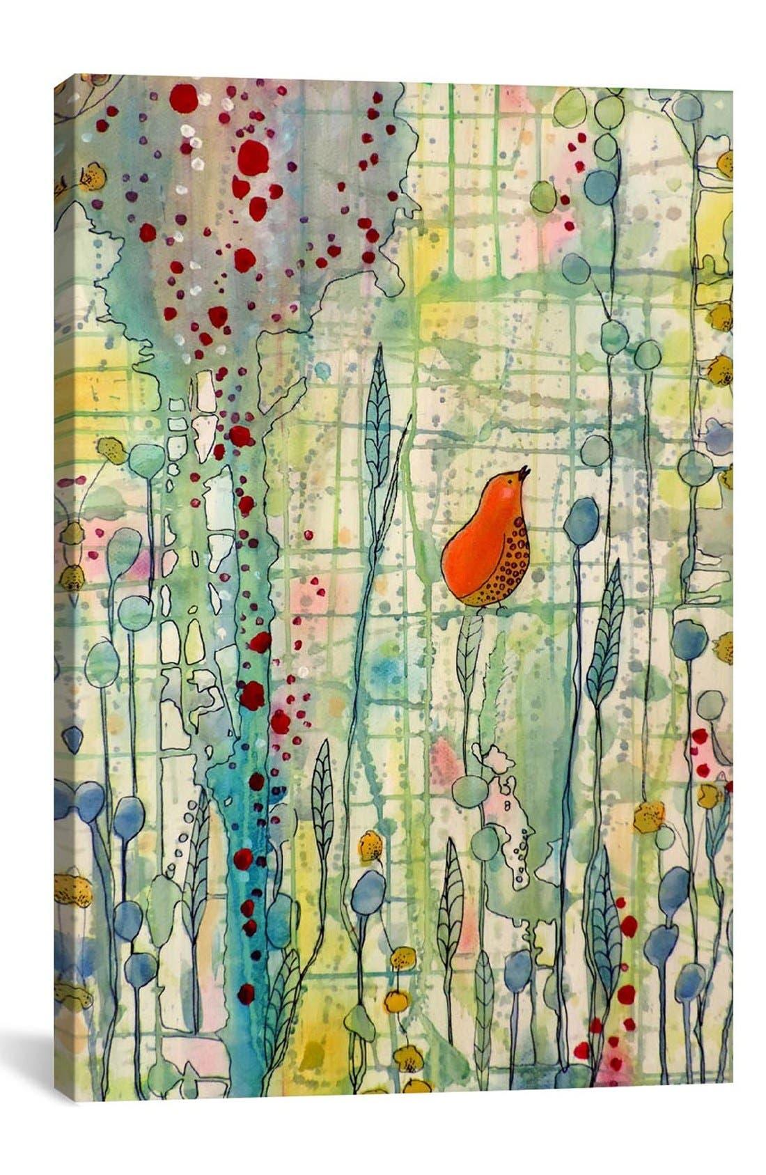 'Alpha - Sylvie Demers' Giclée Print Canvas Art,                         Main,                         color, BLACK/ MULTI
