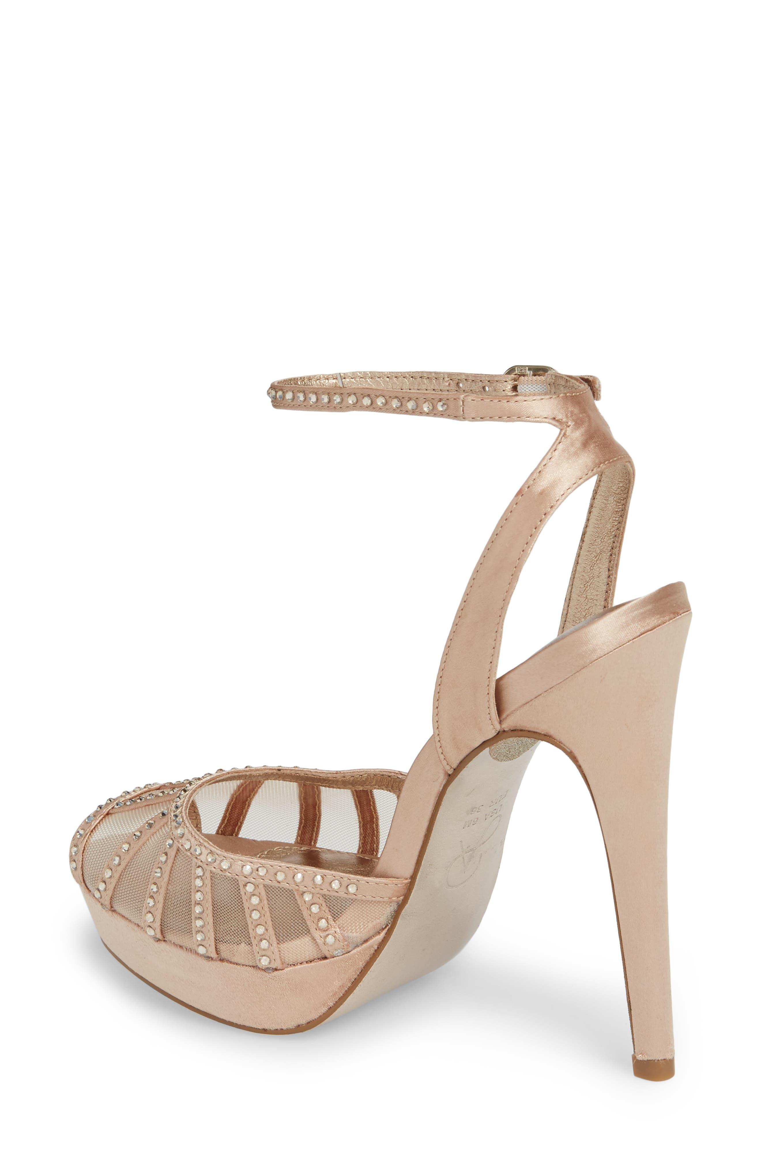 Simone Crystal Embellished Platform Sandal,                             Alternate thumbnail 7, color,