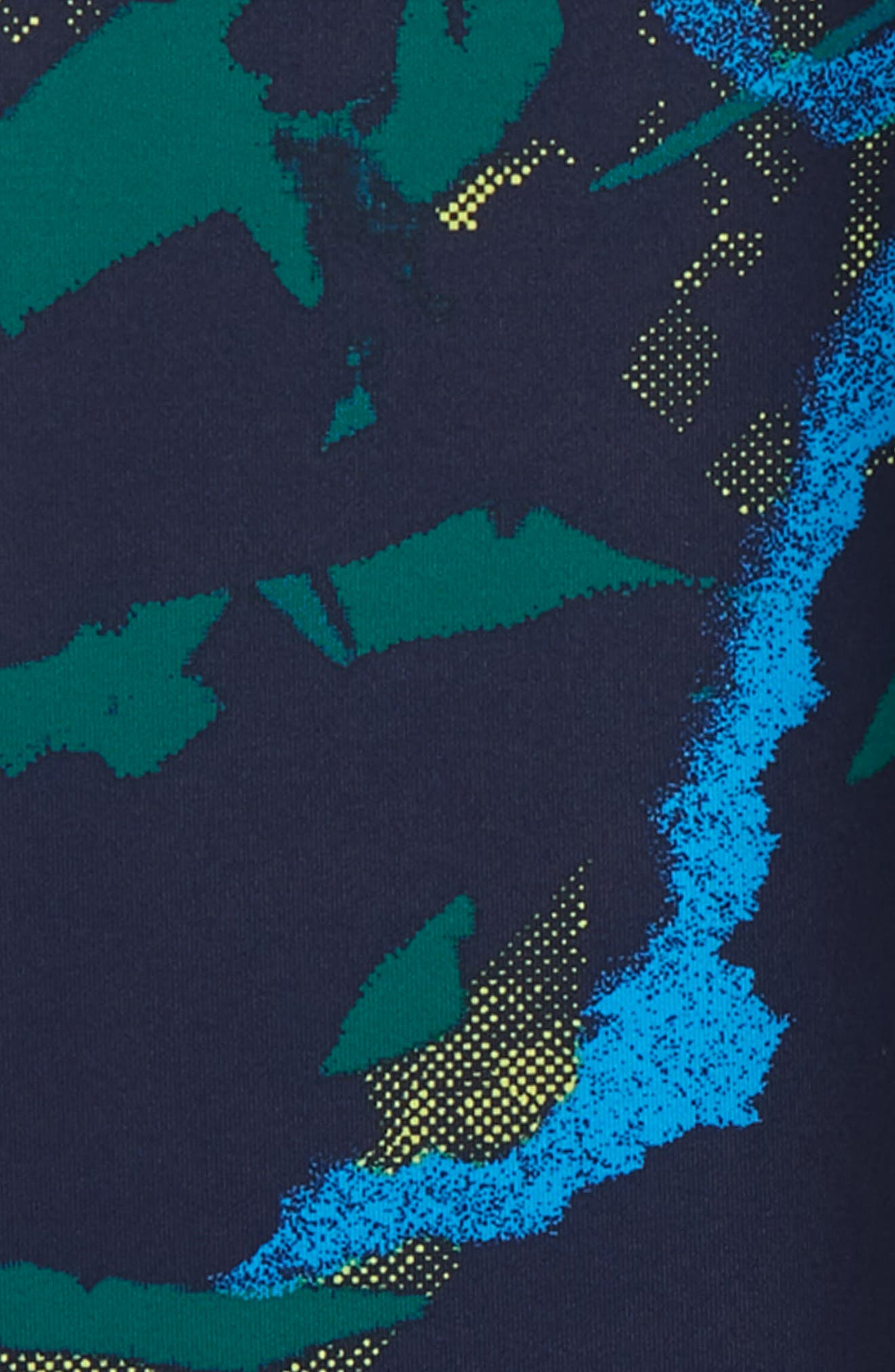 Print High Waist Leggings,                             Alternate thumbnail 2, color,                             NAVY MARITIME ABSTRACT POP