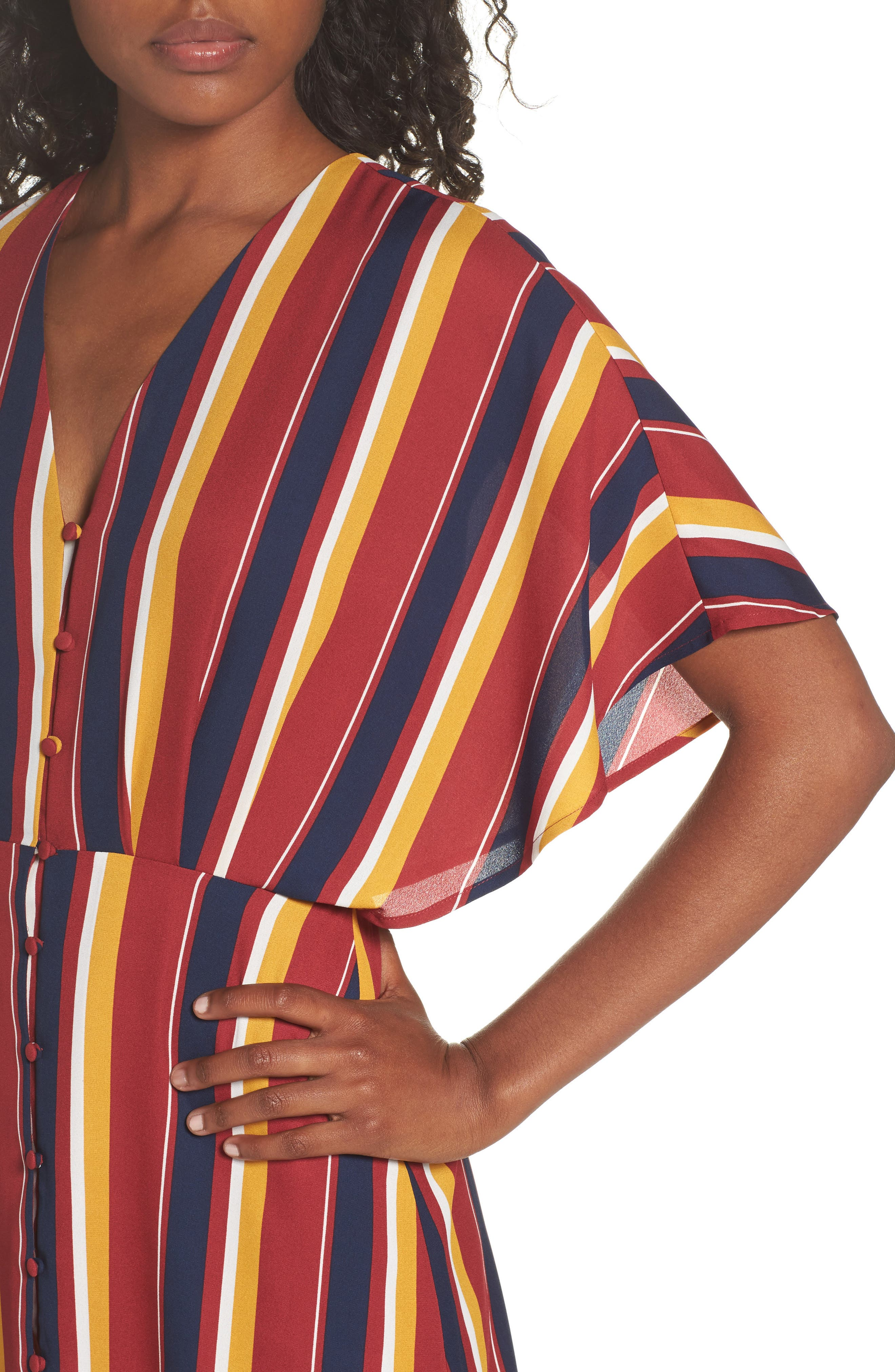 Dreamer Stripe Dress,                             Alternate thumbnail 4, color,                             646