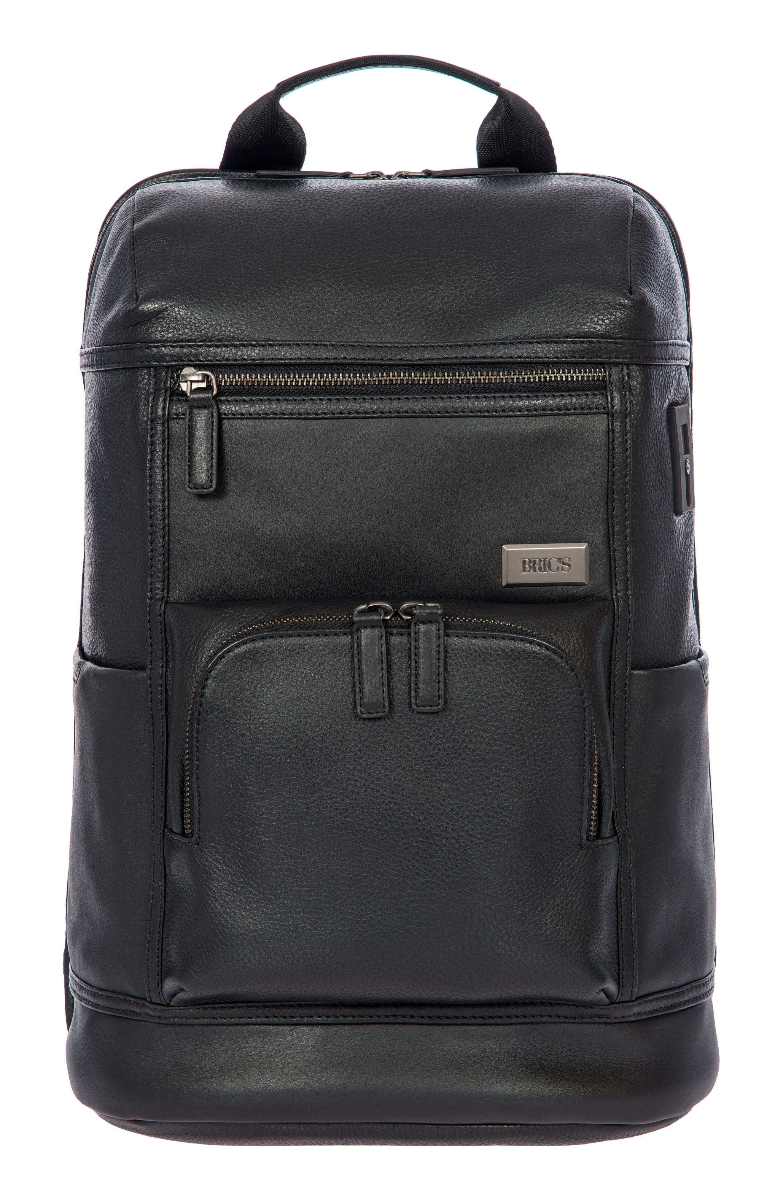 BRIC'S Torino Men'S Leather Urban Backpack in Black