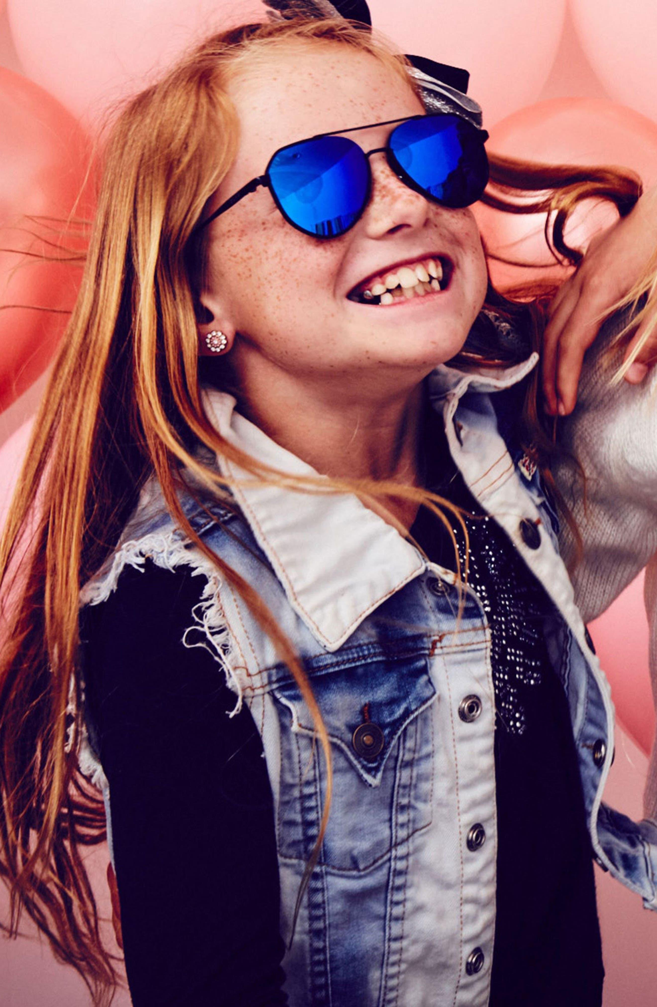 Mommy & Me Dash 2-Pack Aviator Sunglasses,                             Alternate thumbnail 5, color,                             003