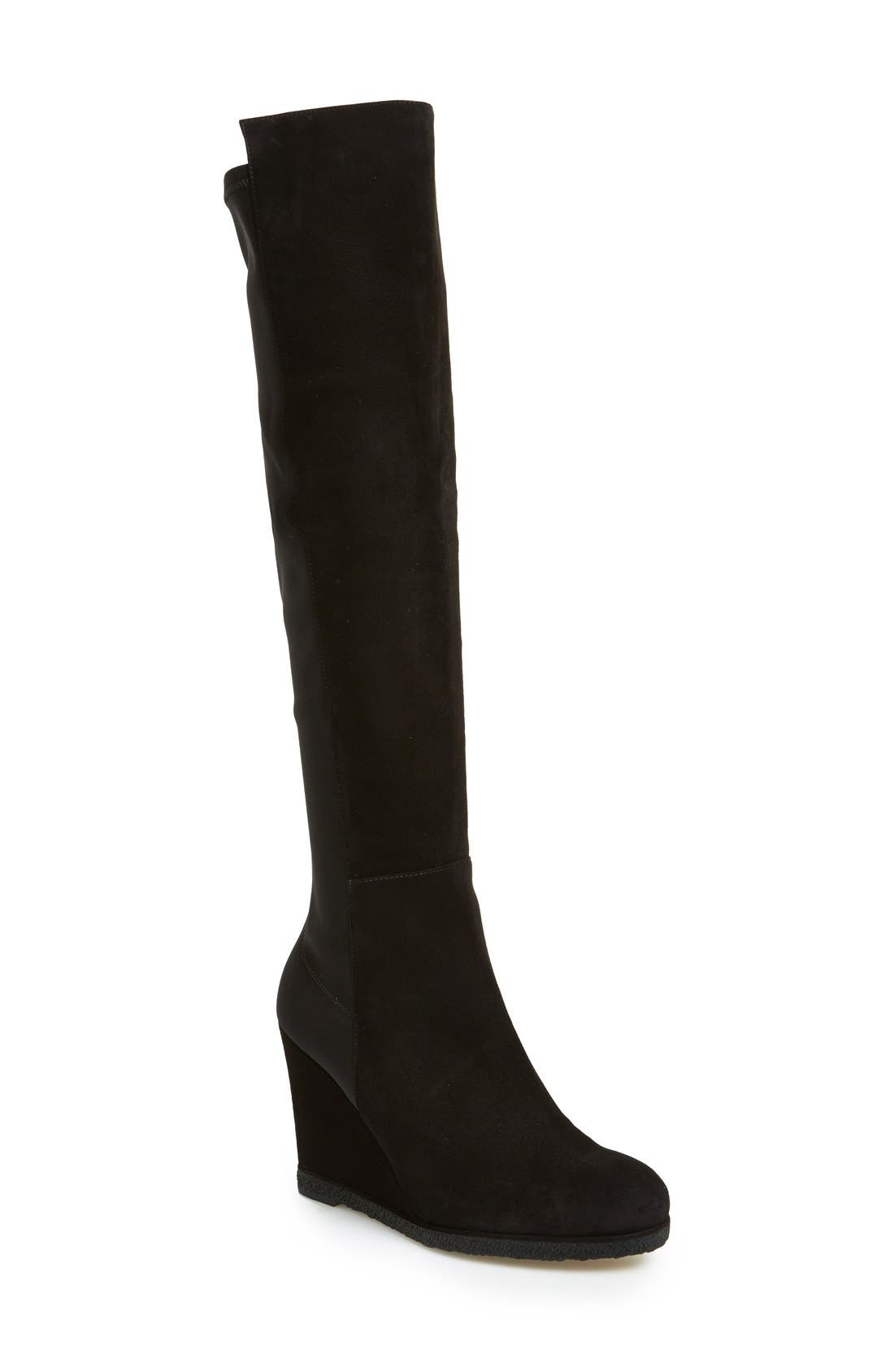 'Demiswoon' Over the Knee Boot,                             Main thumbnail 1, color,                             001