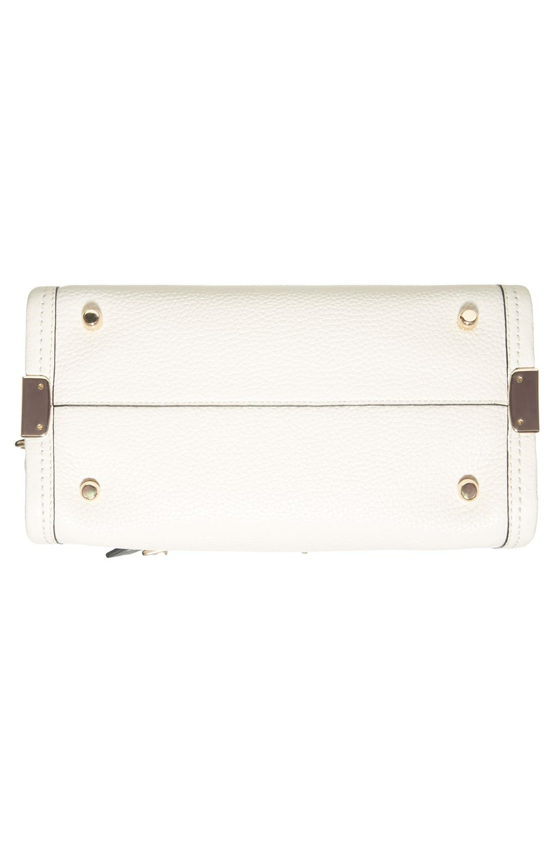 'Swagger 35' Colorblock Leather Satchel,                             Alternate thumbnail 4, color,                             178