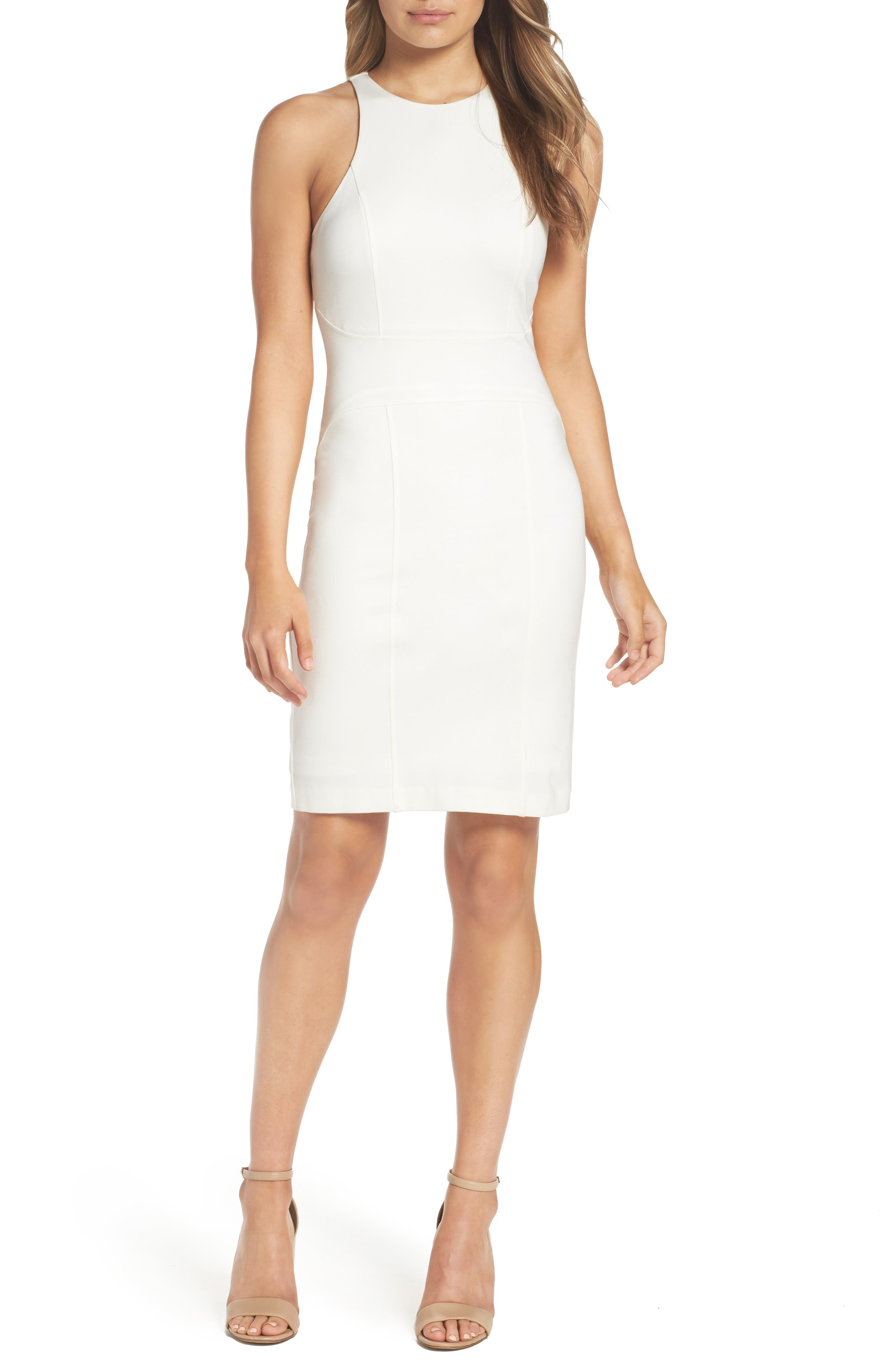 You Ruin Me Body-Con Dress,                             Main thumbnail 1, color,                             WHITE