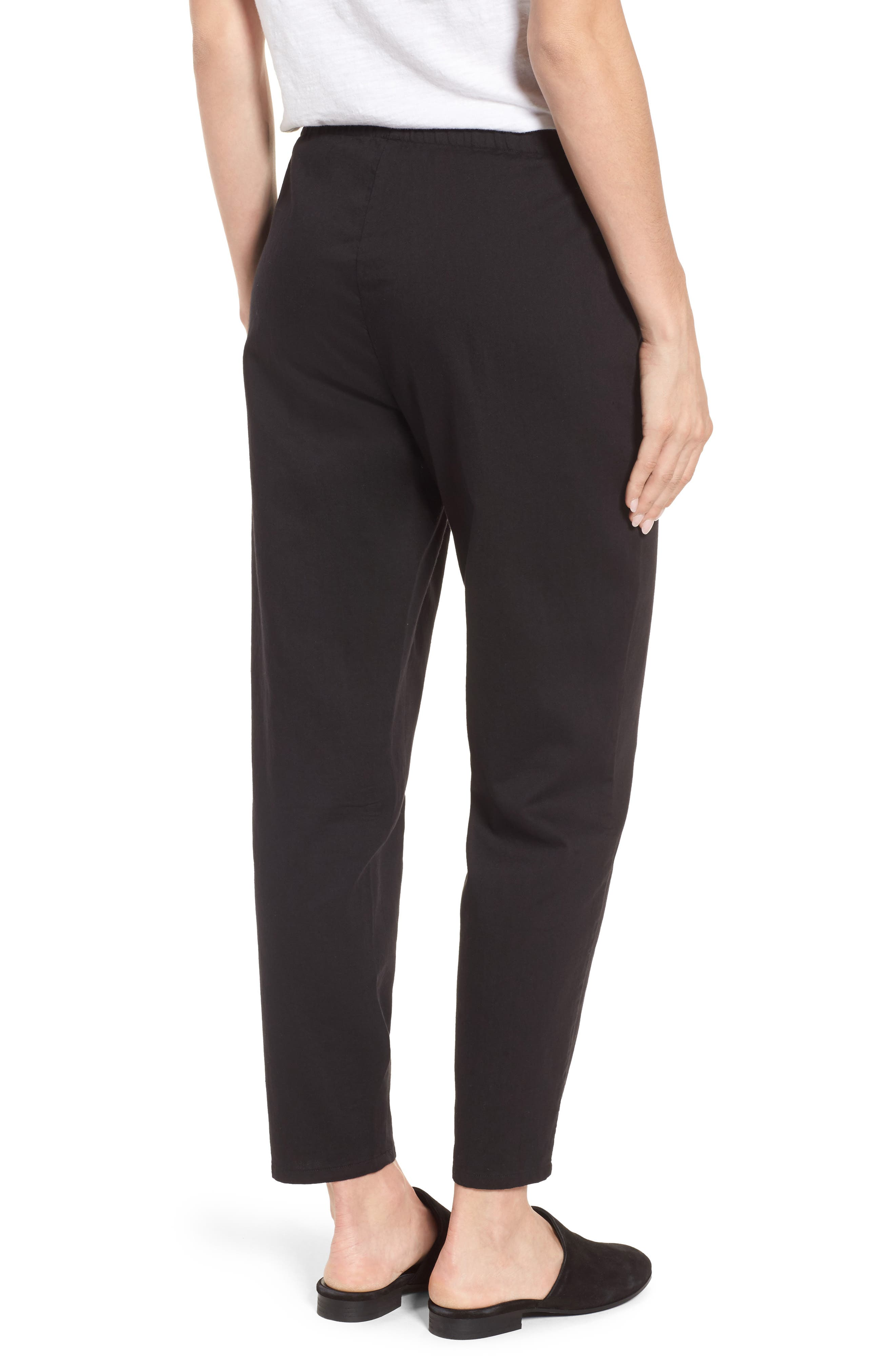 Organic Cotton Tapered Ankle Pants,                             Alternate thumbnail 6, color,