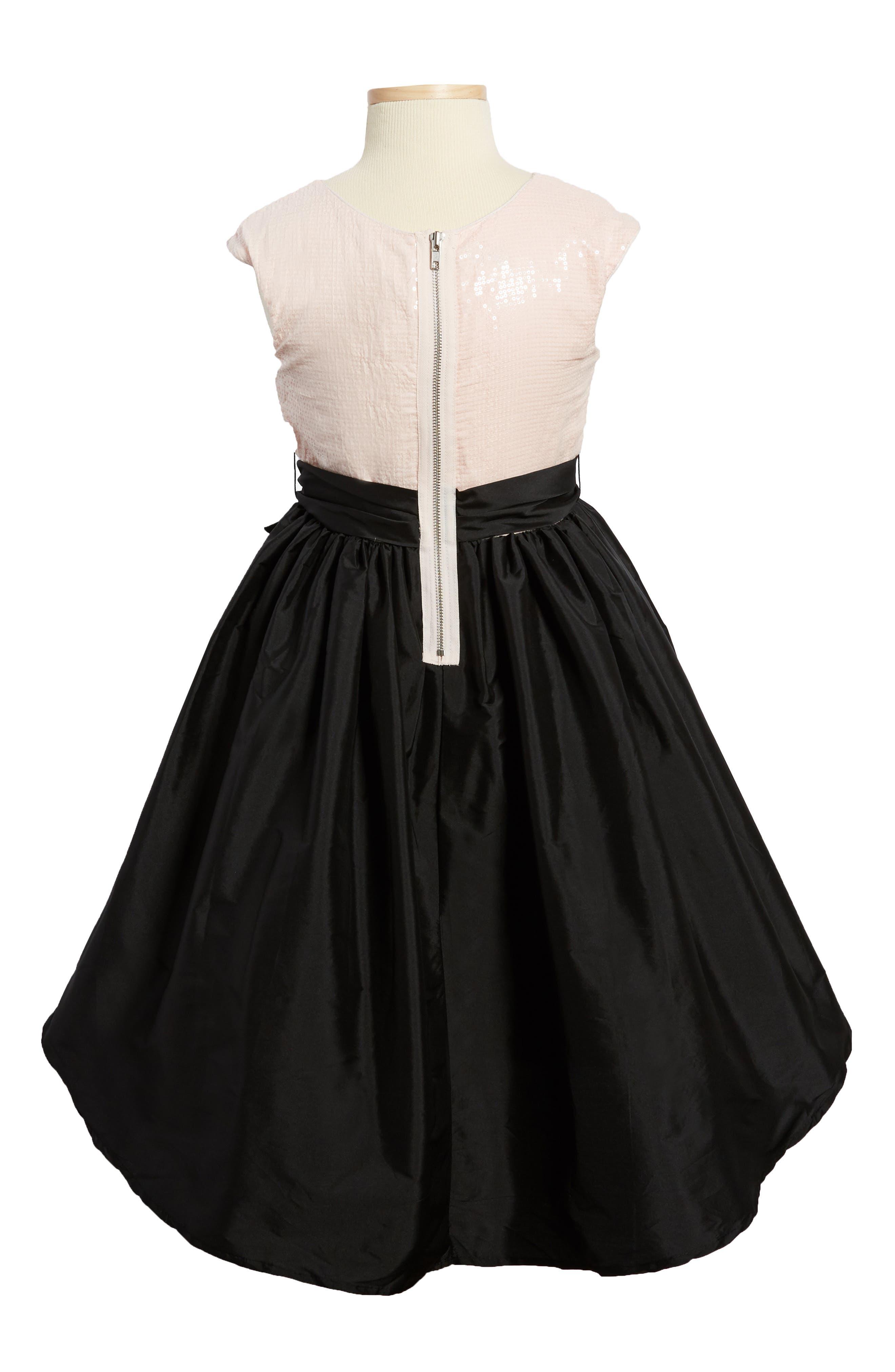 Sequin Embellished Fit & Flare Dress,                             Alternate thumbnail 2, color,                             650