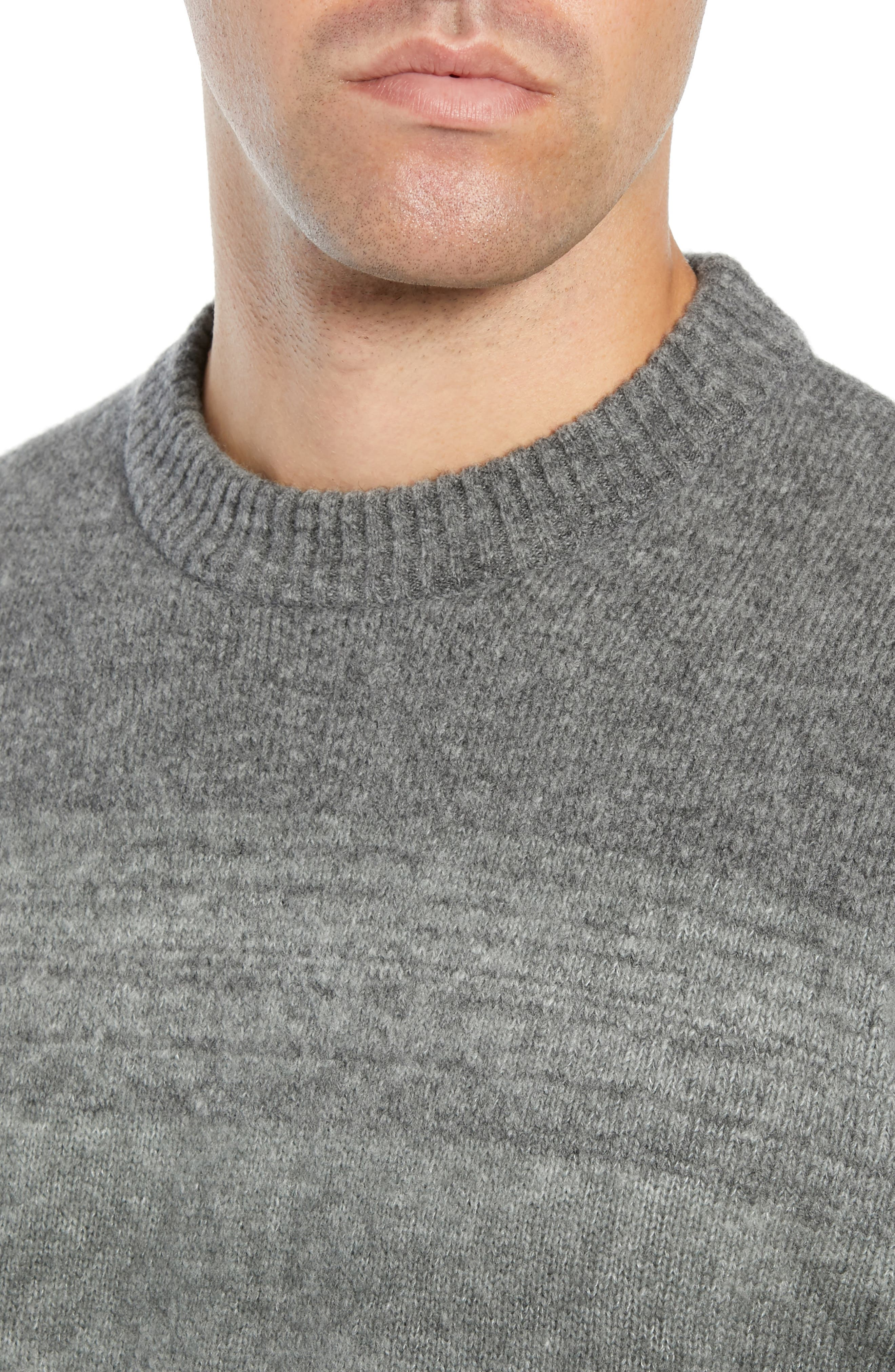 Ecardo Dégradé Virgin Wool Blend Sweater,                             Alternate thumbnail 4, color,                             GREY