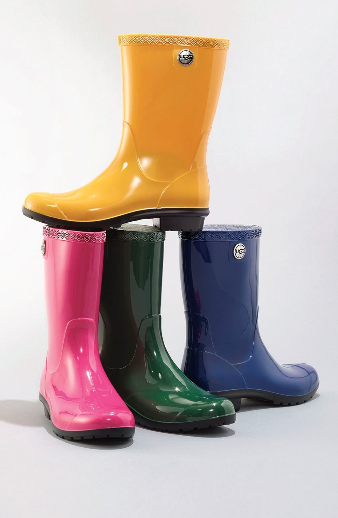 UGG<SUP>®</SUP>,                             Sienna Rain Boot,                             Alternate thumbnail 9, color,                             NIGHTFALL