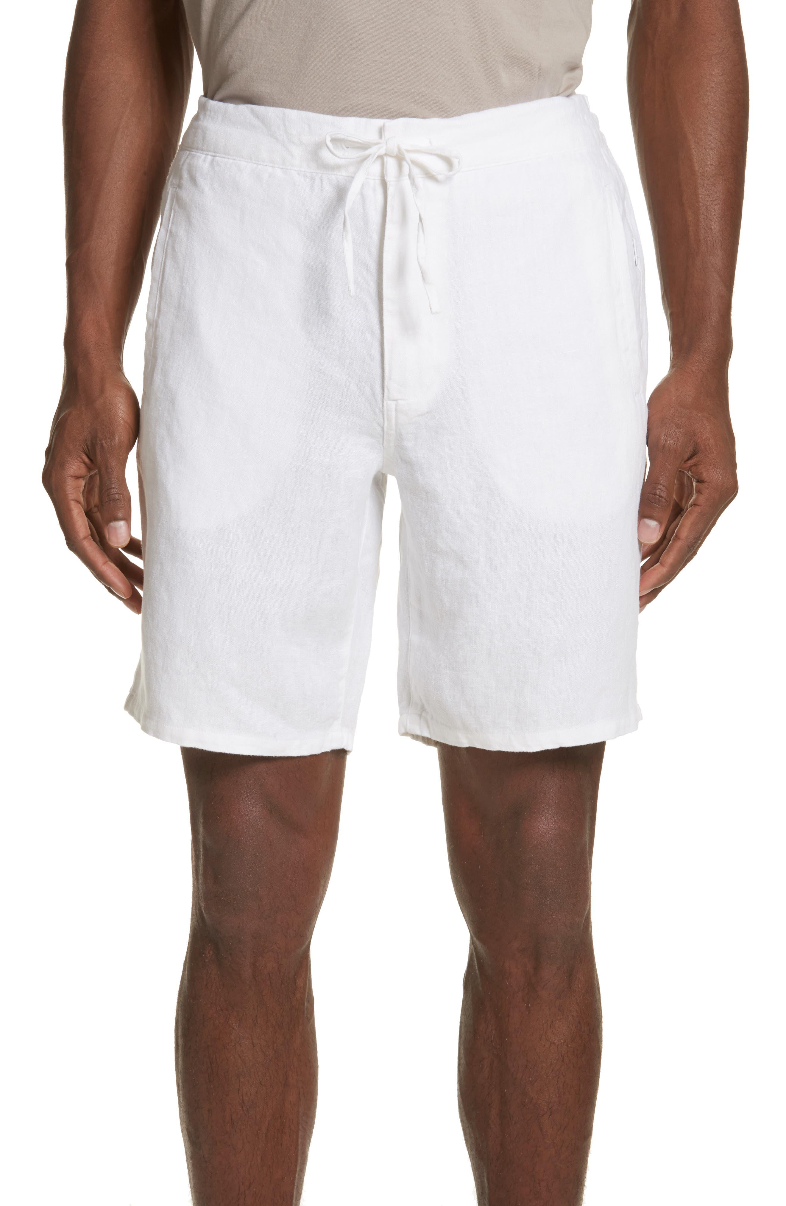 Max Linen Shorts,                         Main,                         color, WHITE