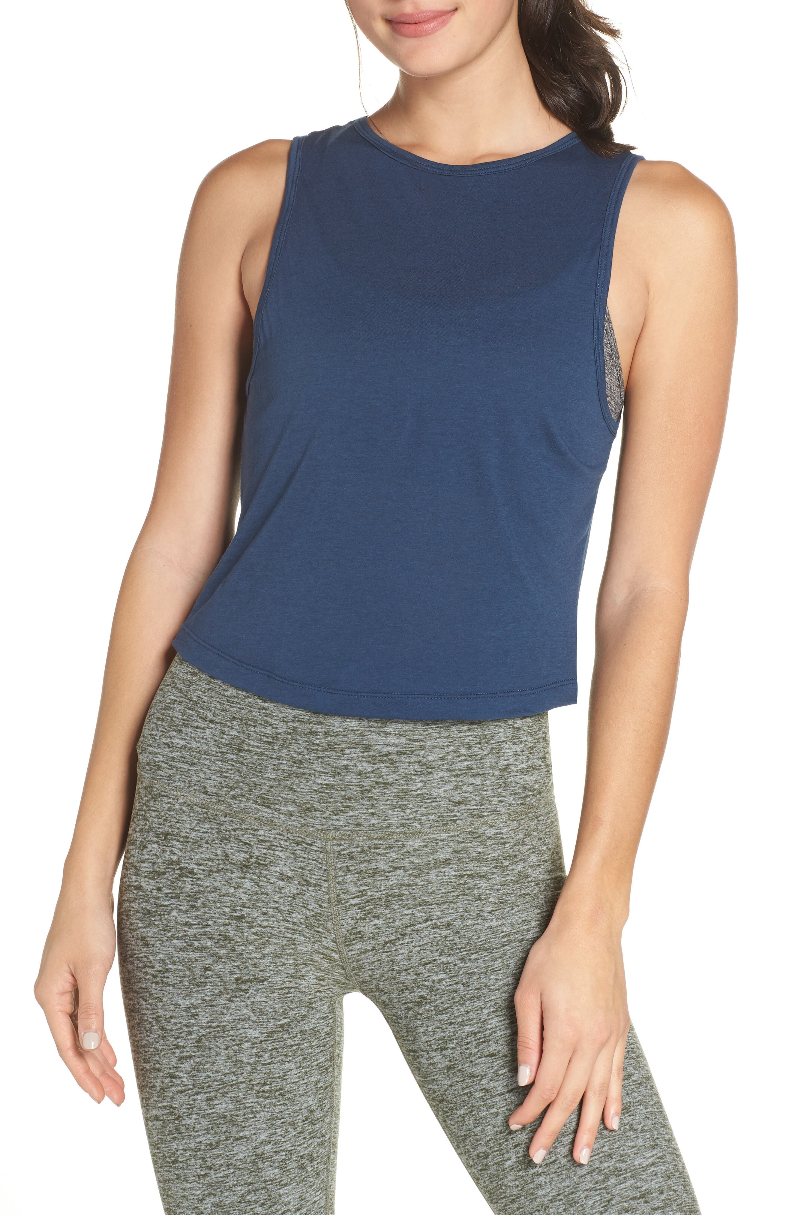 Crossroads Crop Tank,                             Alternate thumbnail 2, color,                             OUTLAW NAVY