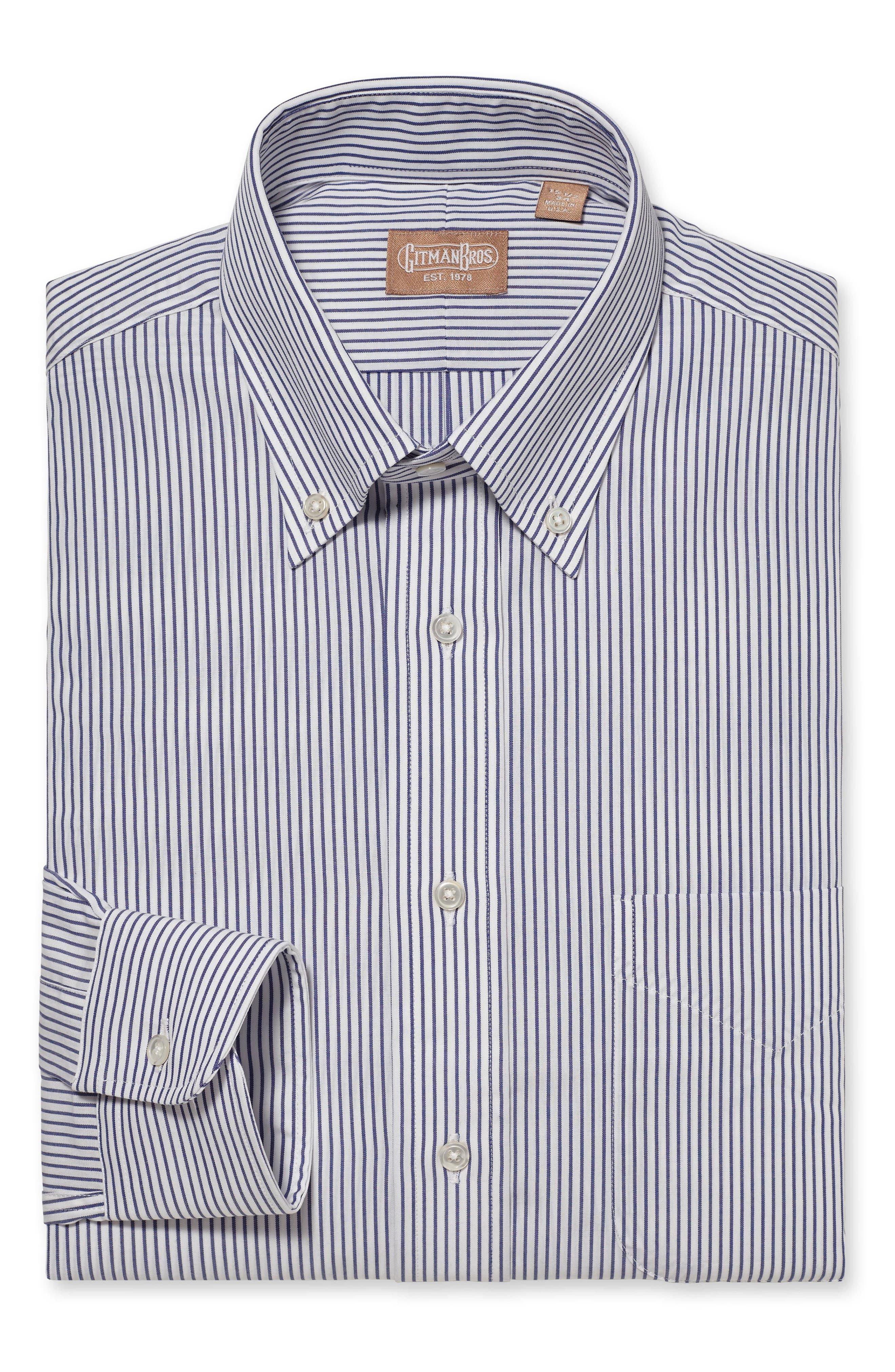 Regular Fit Stripe Dress Shirt,                         Main,                         color, 400