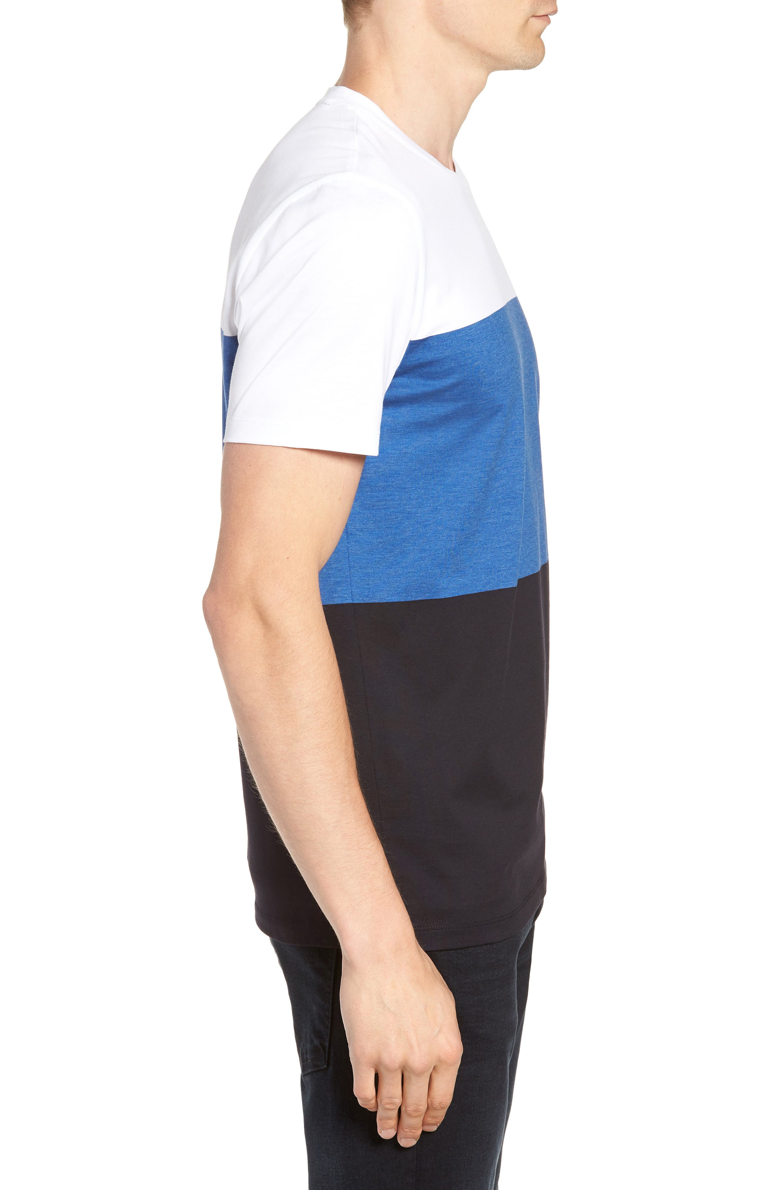 Tessler Colorblock Slim Fit T-Shirt,                             Alternate thumbnail 3, color,                             474