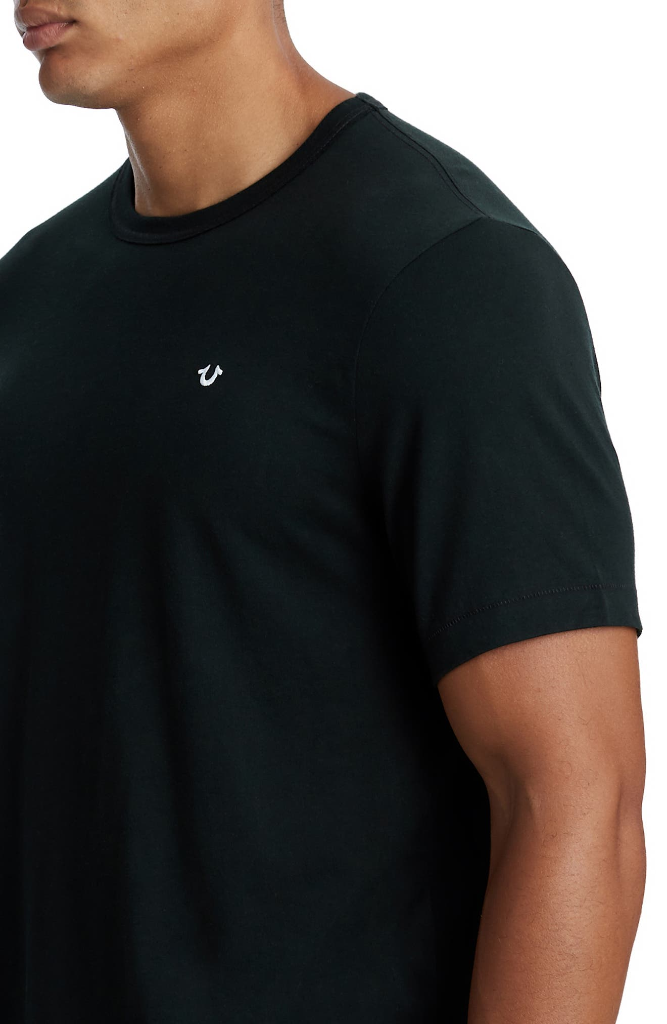 Essentials V-Neck T-Shirt,                             Alternate thumbnail 4, color,                             001