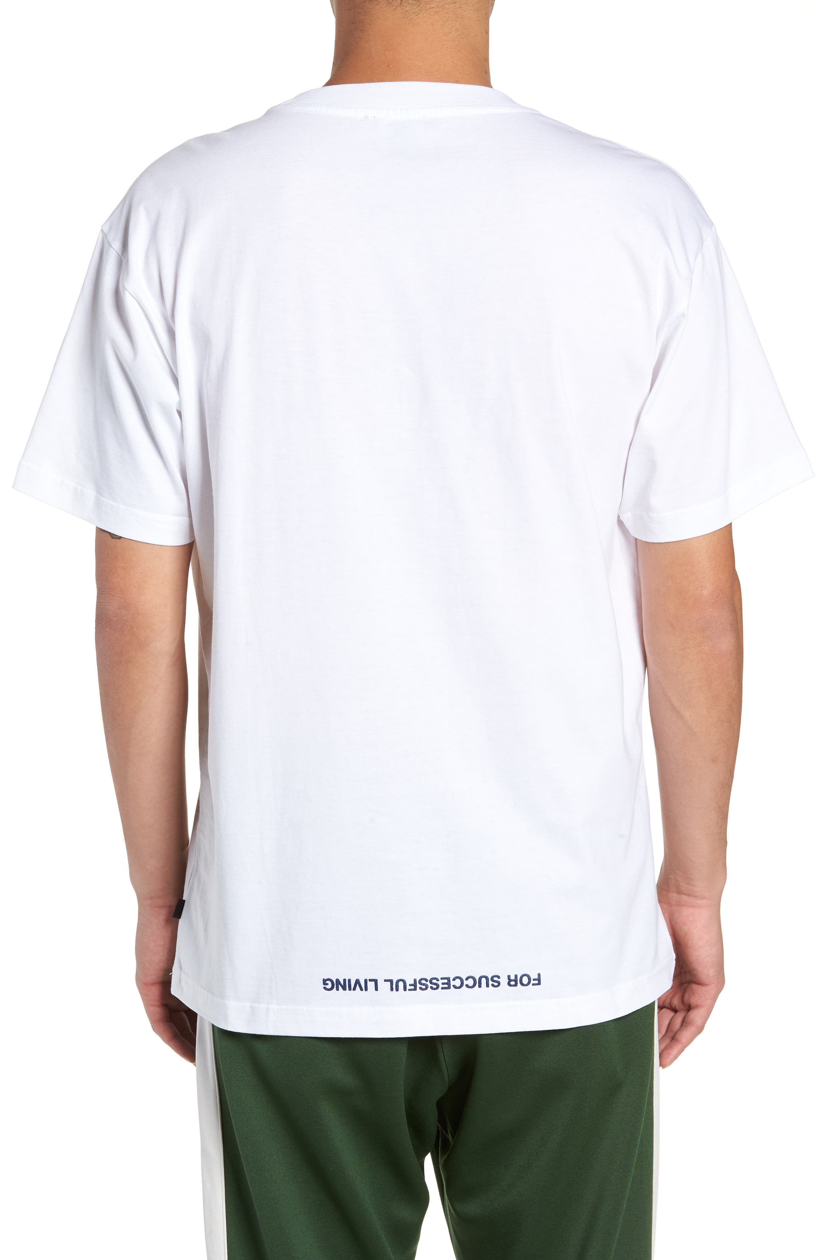 T-WALLACE-XC Graphic T-Shirt,                             Alternate thumbnail 2, color,                             WHITE