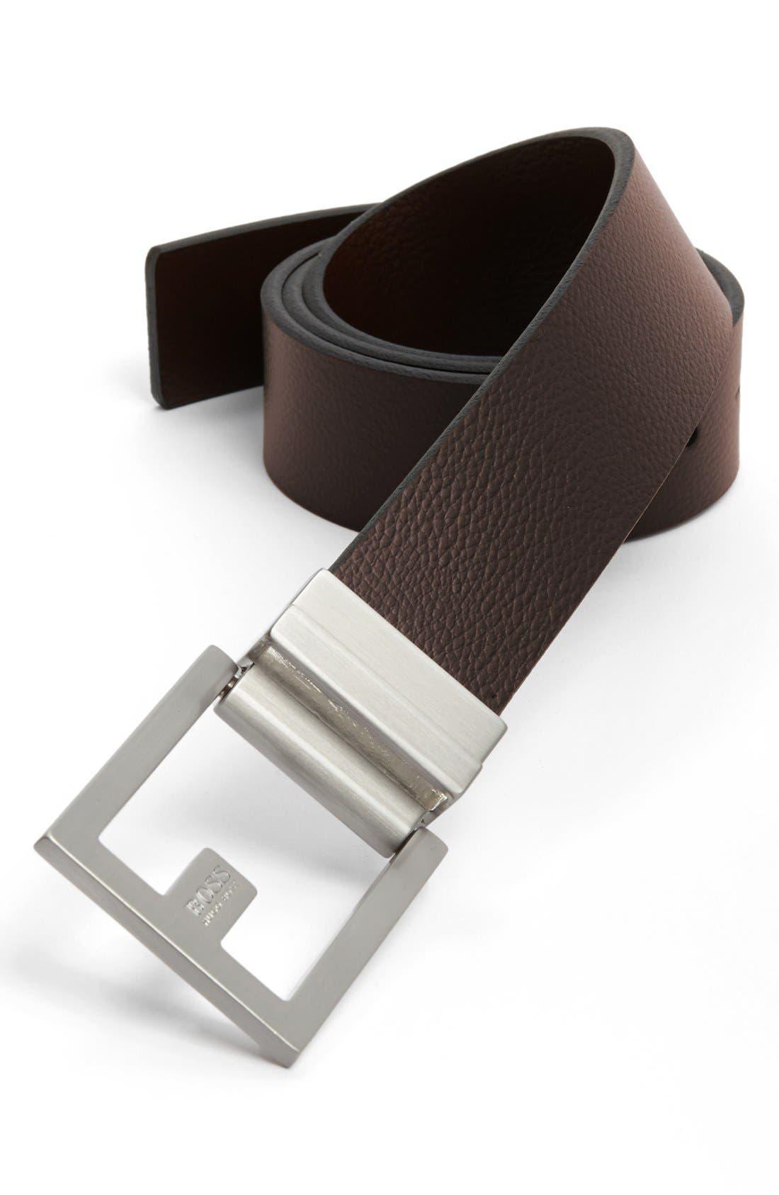 Fleming Reversible Leather Belt,                             Alternate thumbnail 7, color,