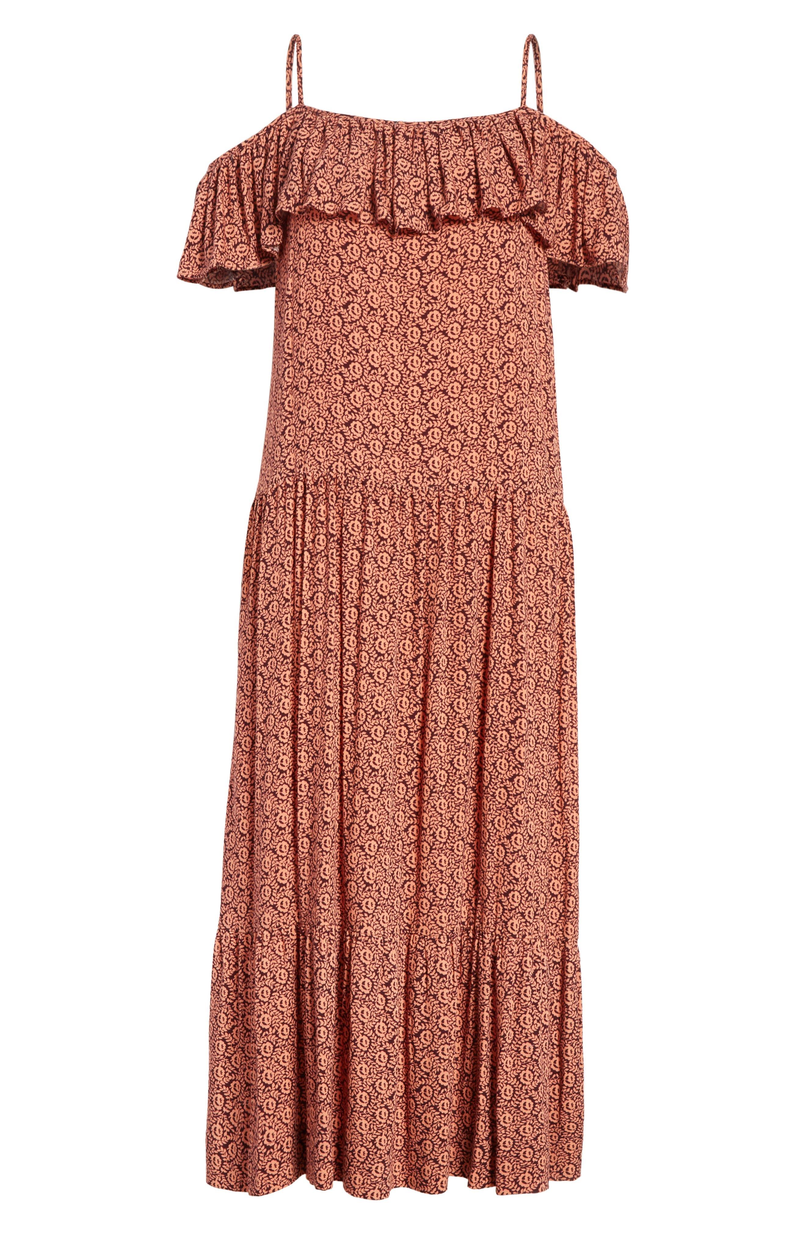 Lapaz Off the Shoulder Midi Dress,                             Alternate thumbnail 6, color,