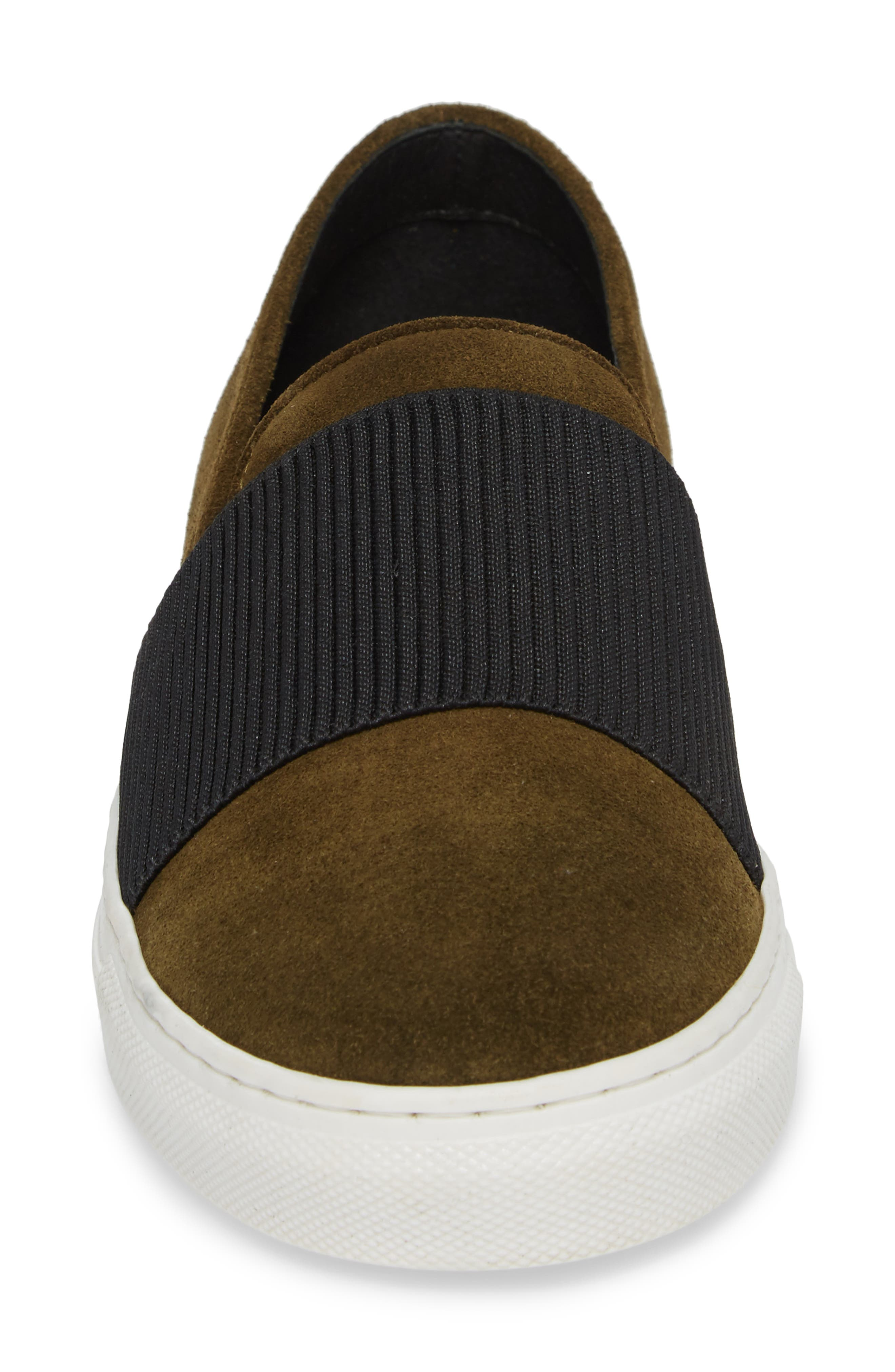 Otto Slip-On Sneaker,                             Alternate thumbnail 4, color,                             MILITARY PRINT SUEDE