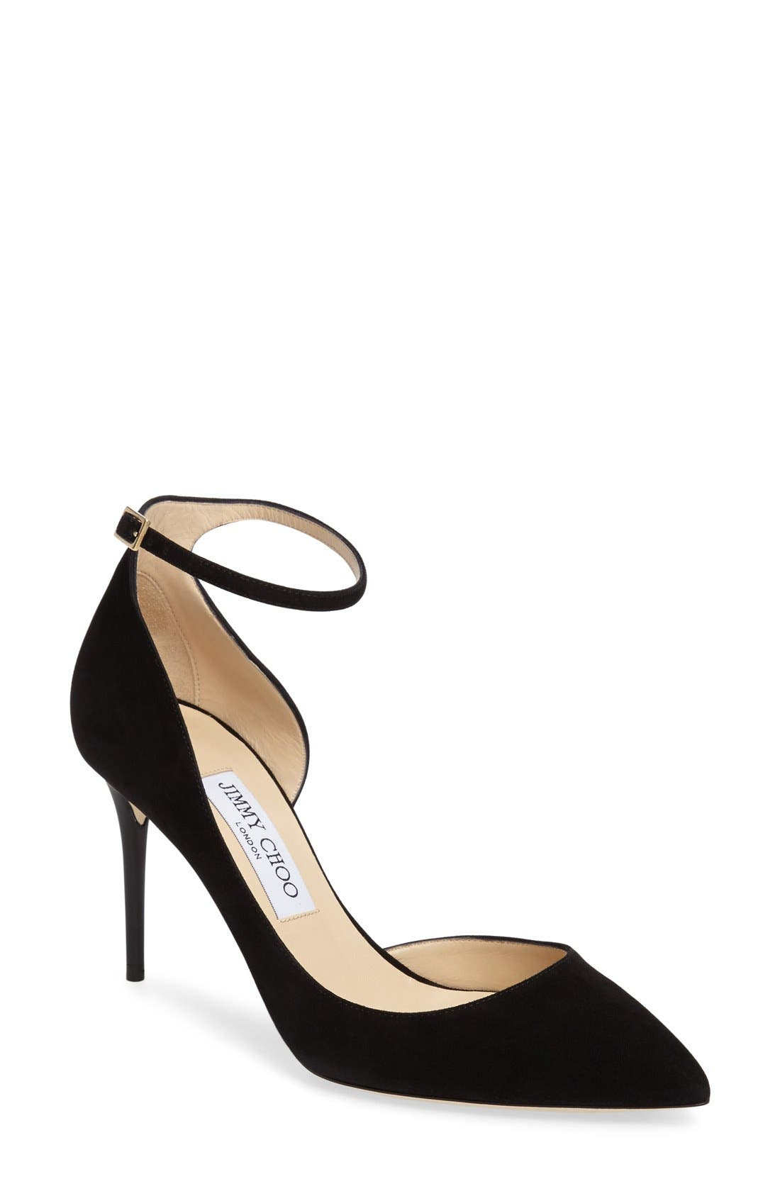 'Lucy' Half d'Orsay Pointy Toe Pump,                             Main thumbnail 2, color,