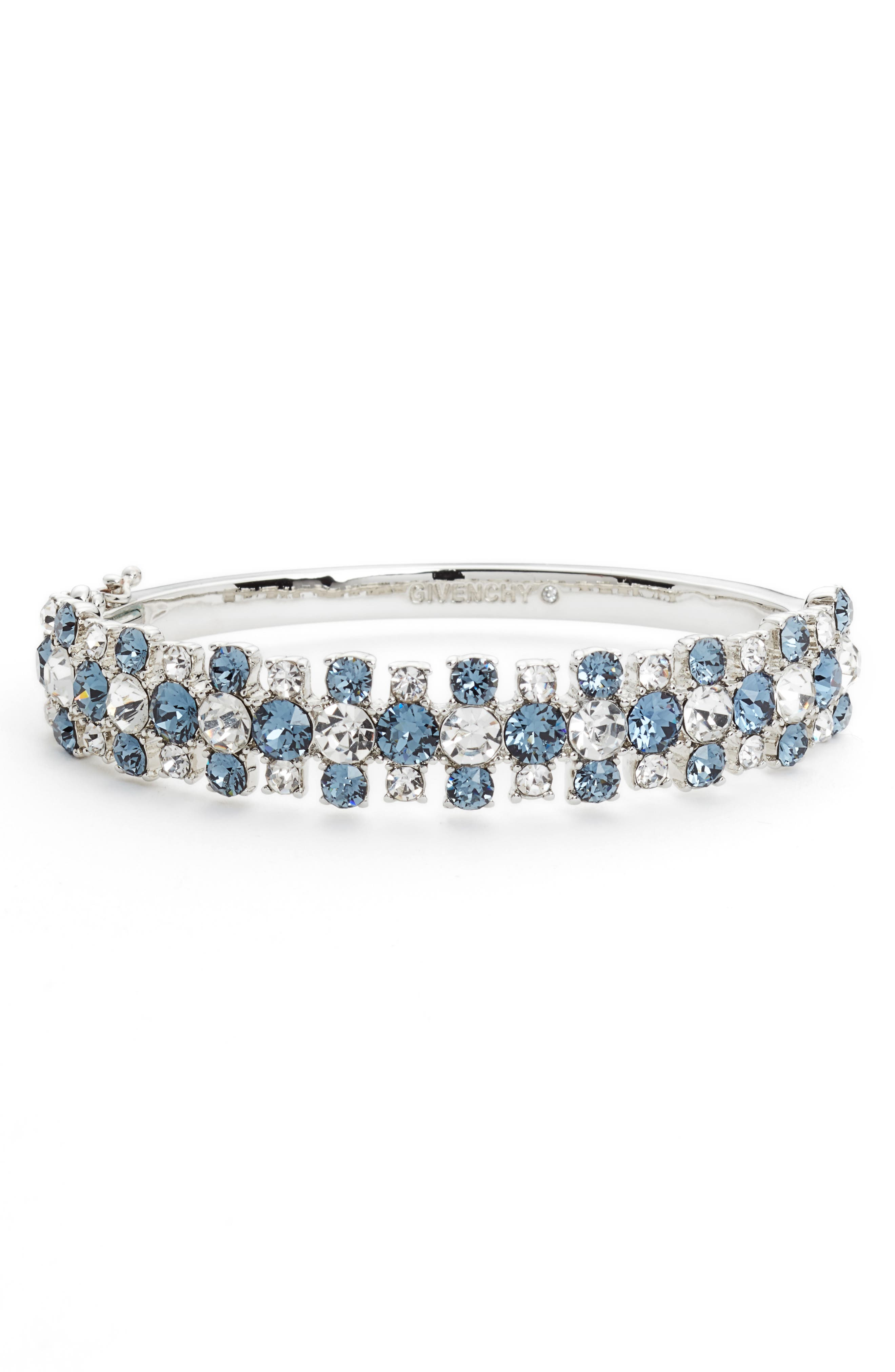 Crystal Bangle Bracelet,                             Main thumbnail 1, color,                             040