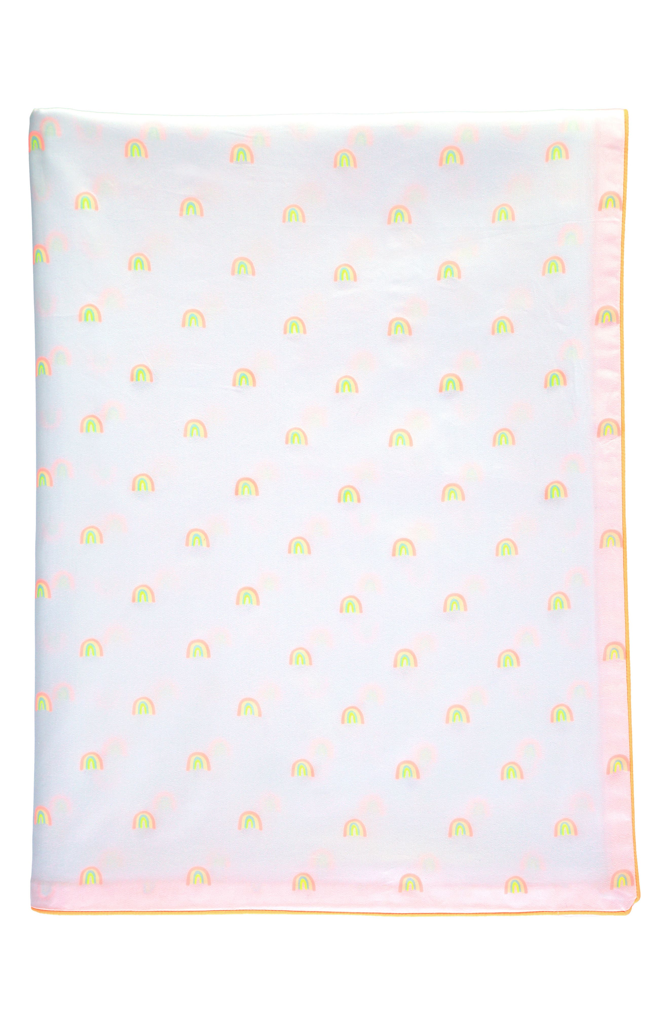 Rainbow Organic Cotton Twin Duvet Cover,                             Alternate thumbnail 2, color,                             WHITE