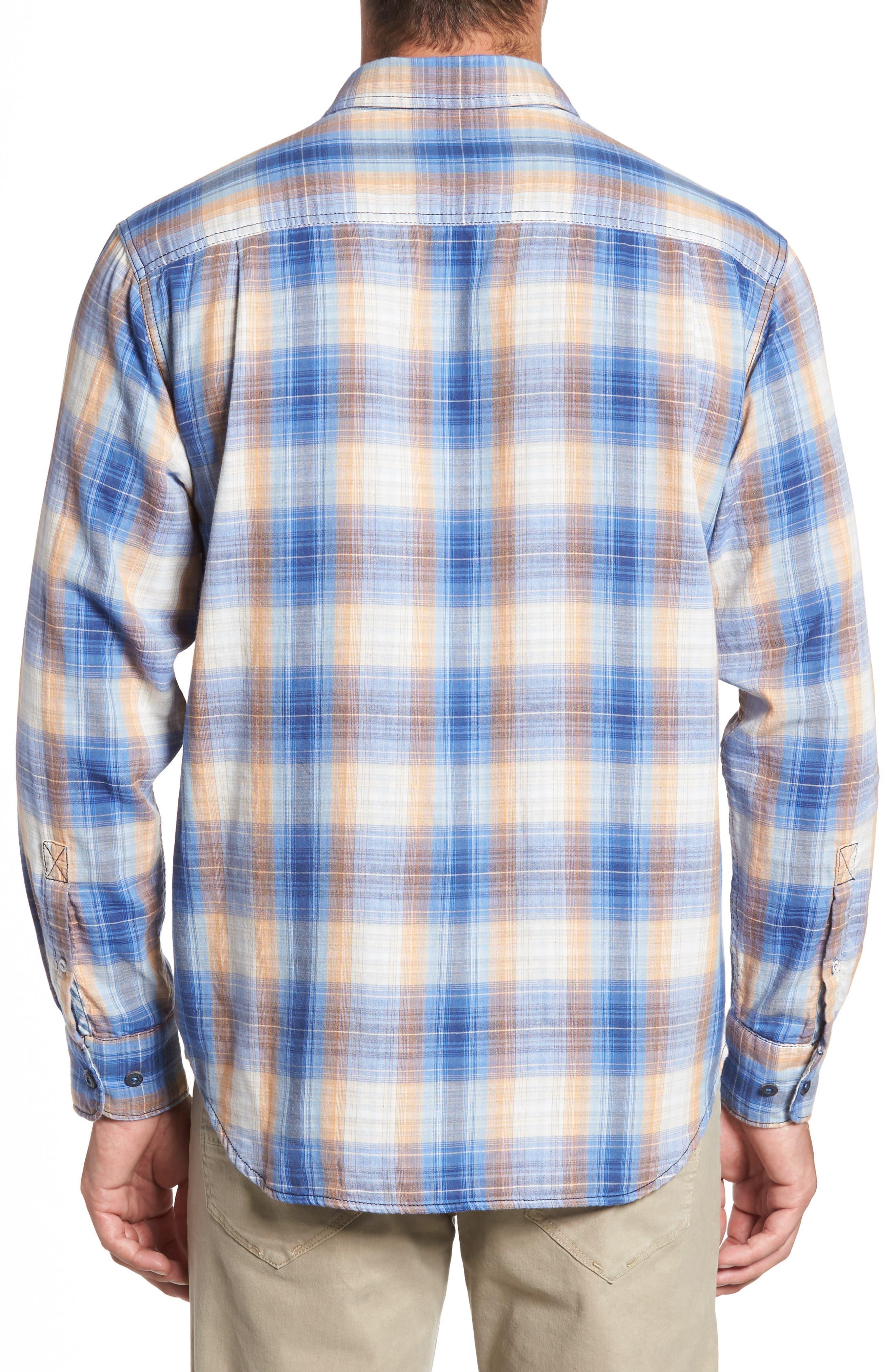 Duble' Ombré Standard Fit Plaid Sport Shirt,                             Alternate thumbnail 2, color,                             400