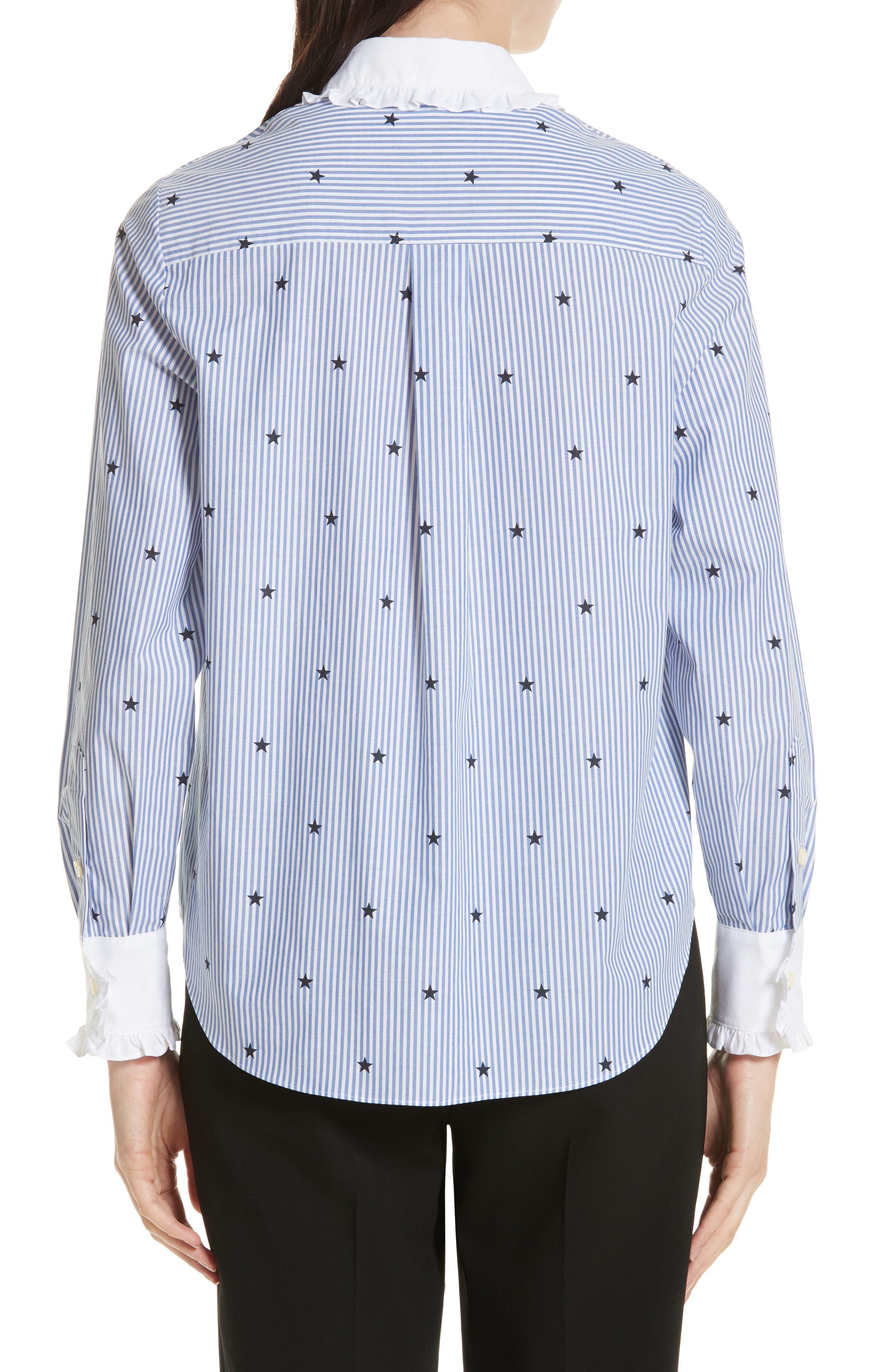 twinkle stripe poplin shirt,                             Alternate thumbnail 2, color,                             491