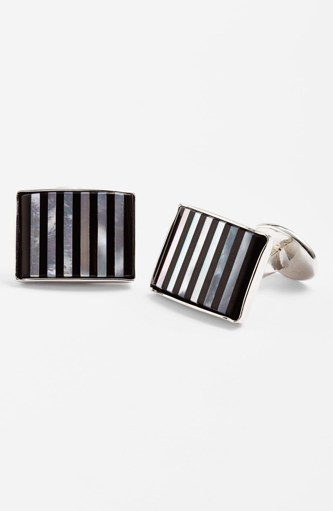 DAVID DONAHUE Striped Cuff Links, Main, color, 040