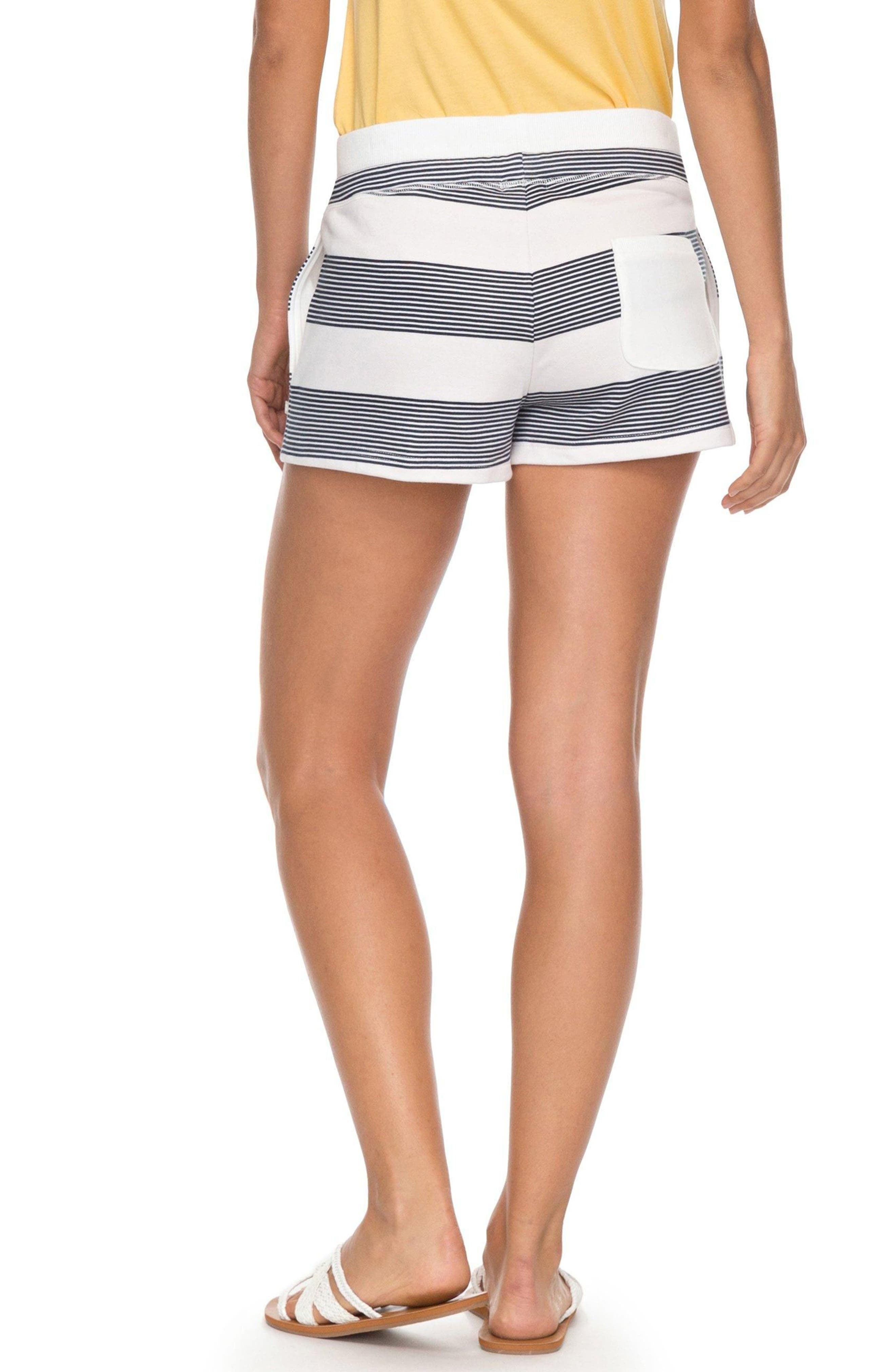 Away from Today Stripe Shorts,                             Alternate thumbnail 2, color,                             MARSHMALLOW DRESS BLUE DOCKER