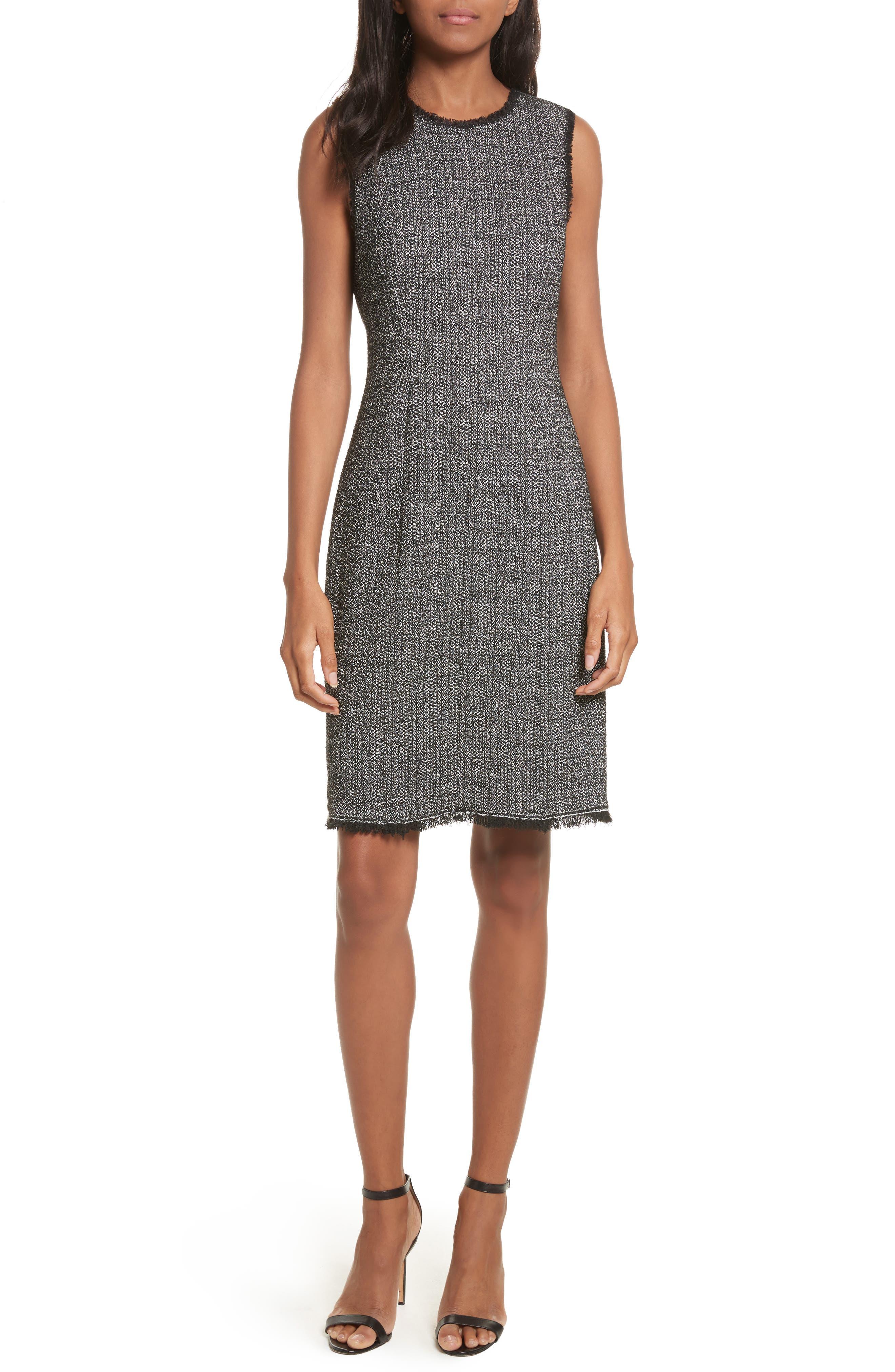 Tweed Sheath Dress,                             Main thumbnail 1, color,                             014
