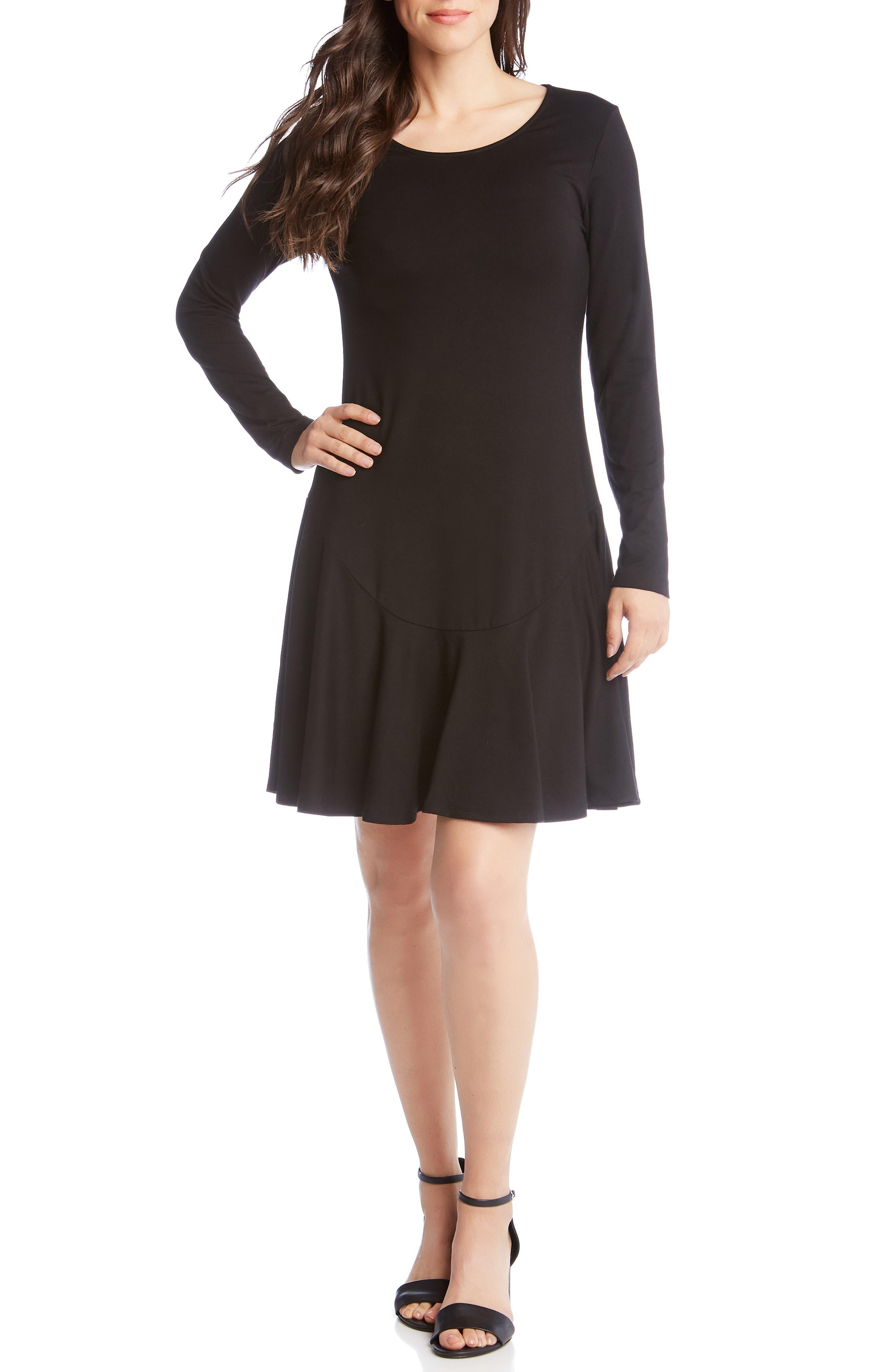 Karen Kane Montana Drop Waist Dress, Black