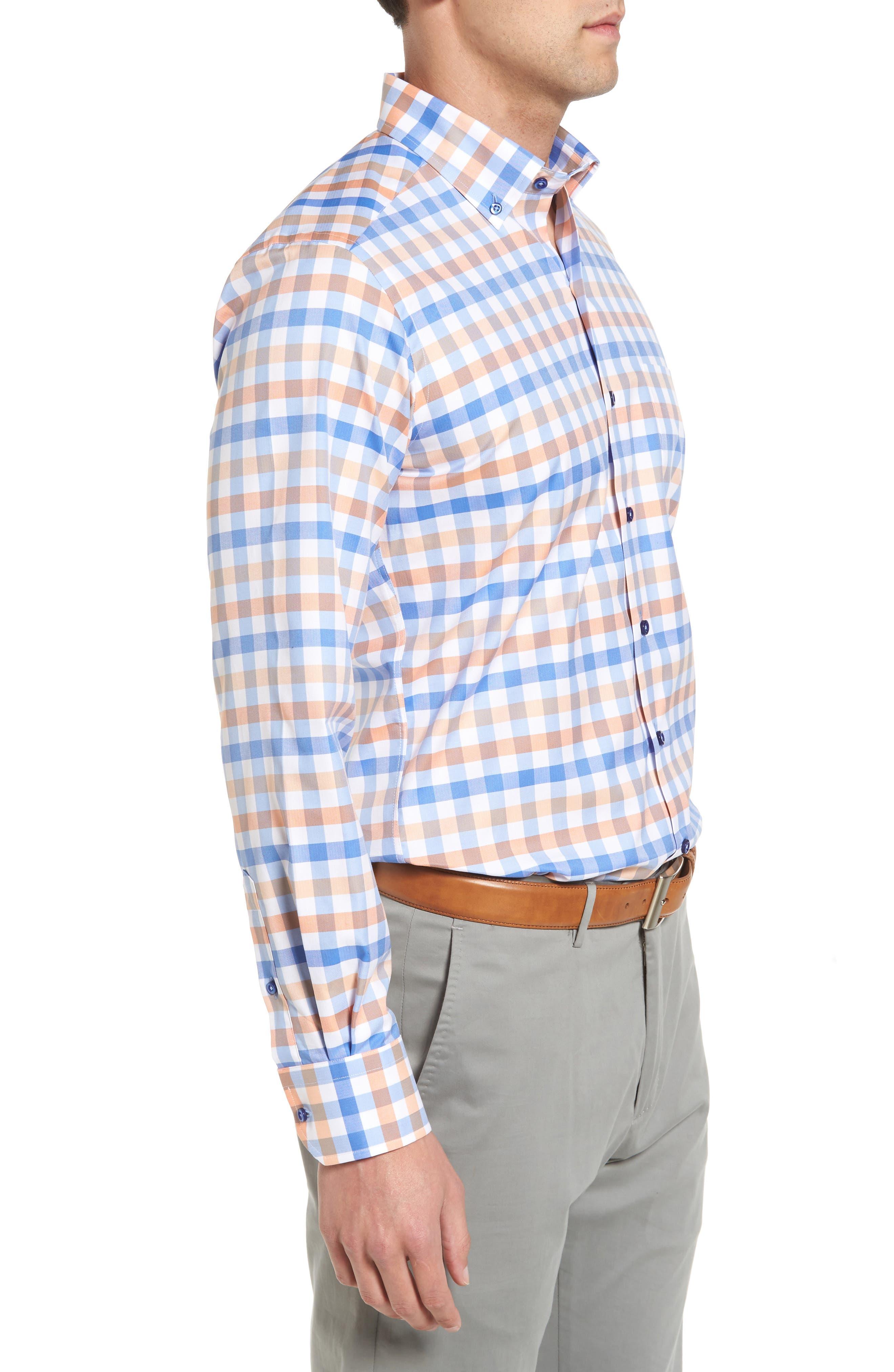 Regular Fit Check Sport Shirt,                             Alternate thumbnail 3, color,                             459