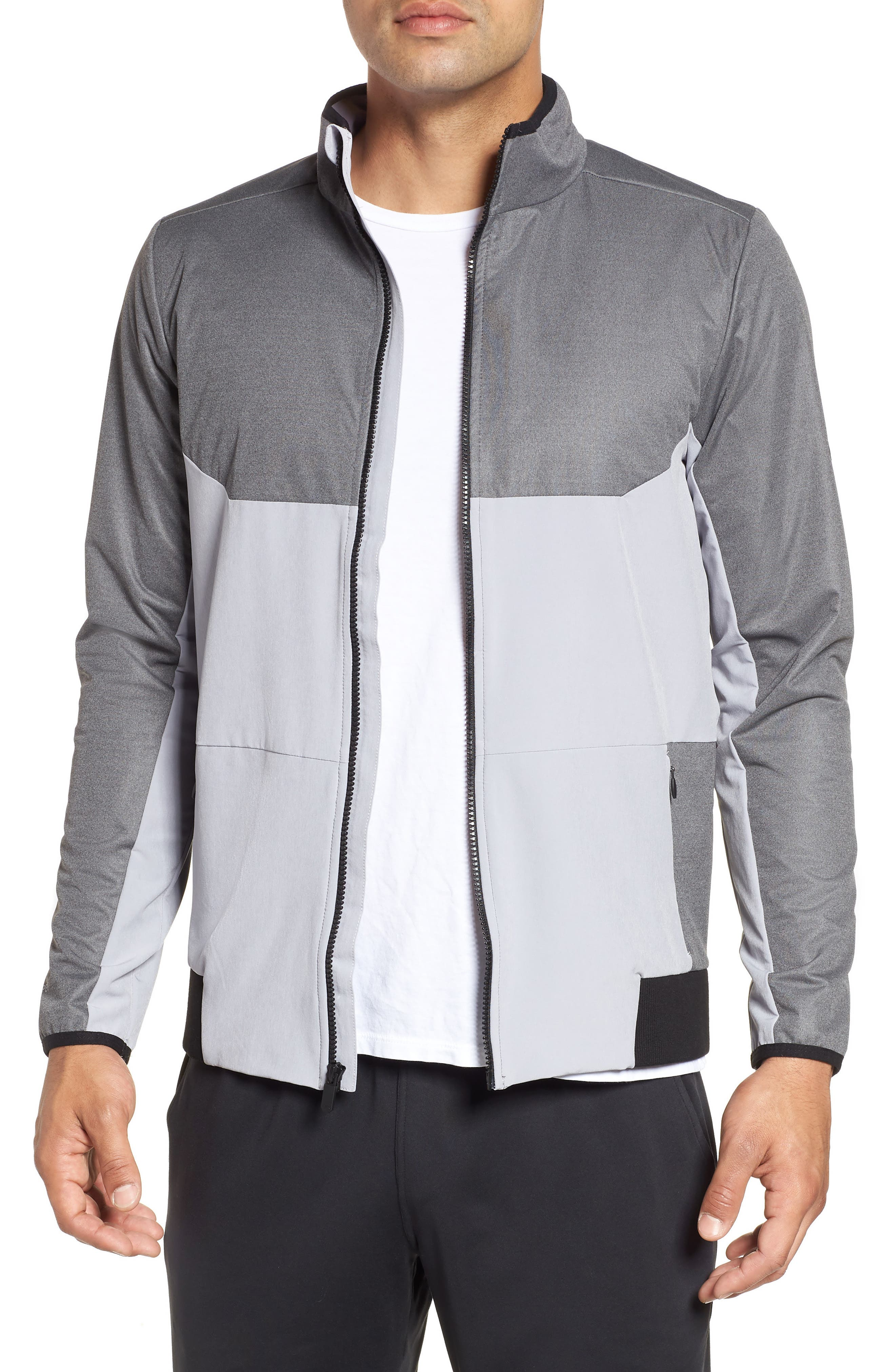 Gore<sup>®</sup> Windstopper<sup>®</sup> Full Zip Jacket,                         Main,                         color, CHARCOAL / OVERCAST