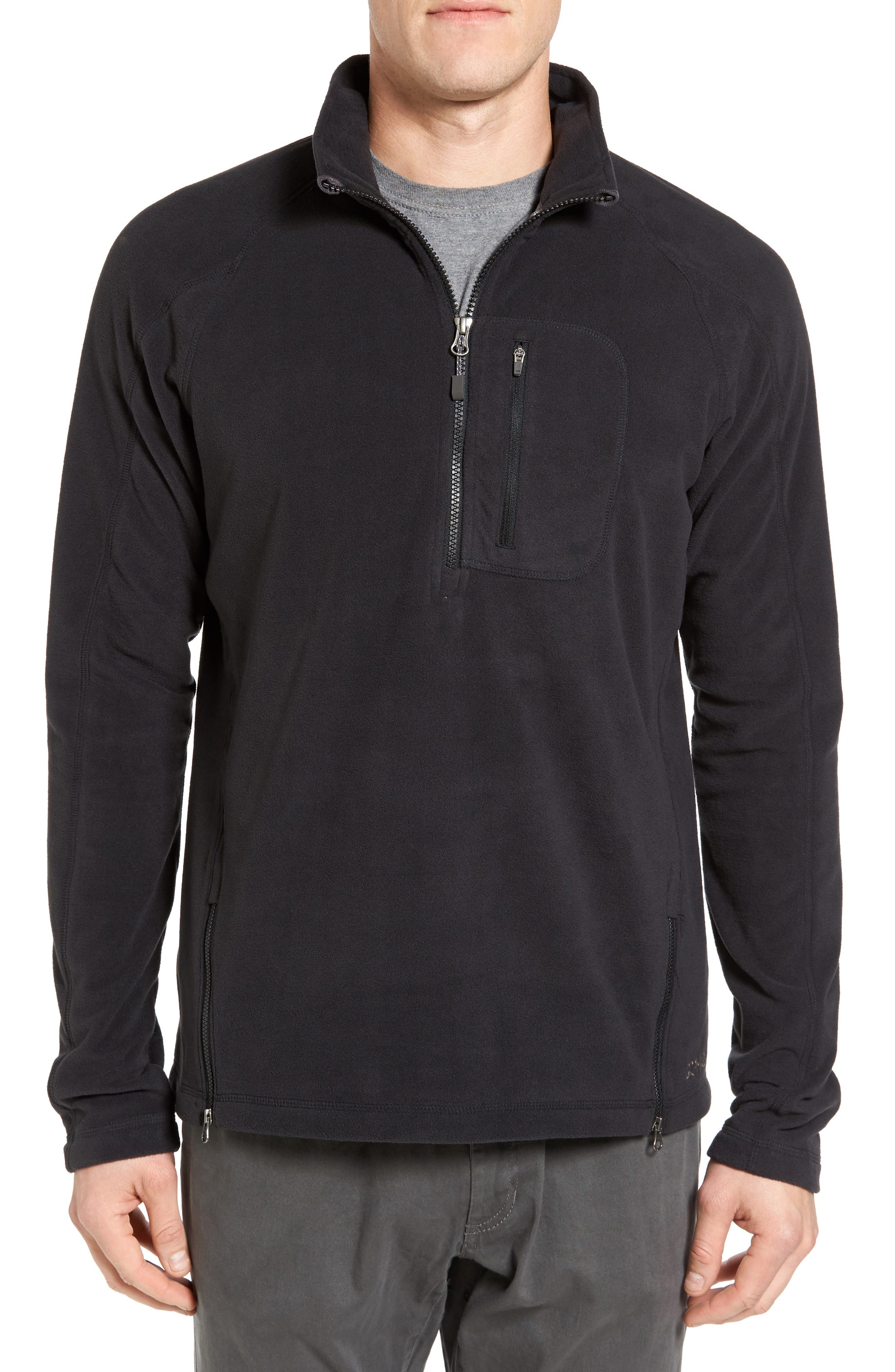 Utility Quarter Zip Fleece Sweater,                             Main thumbnail 1, color,                             002