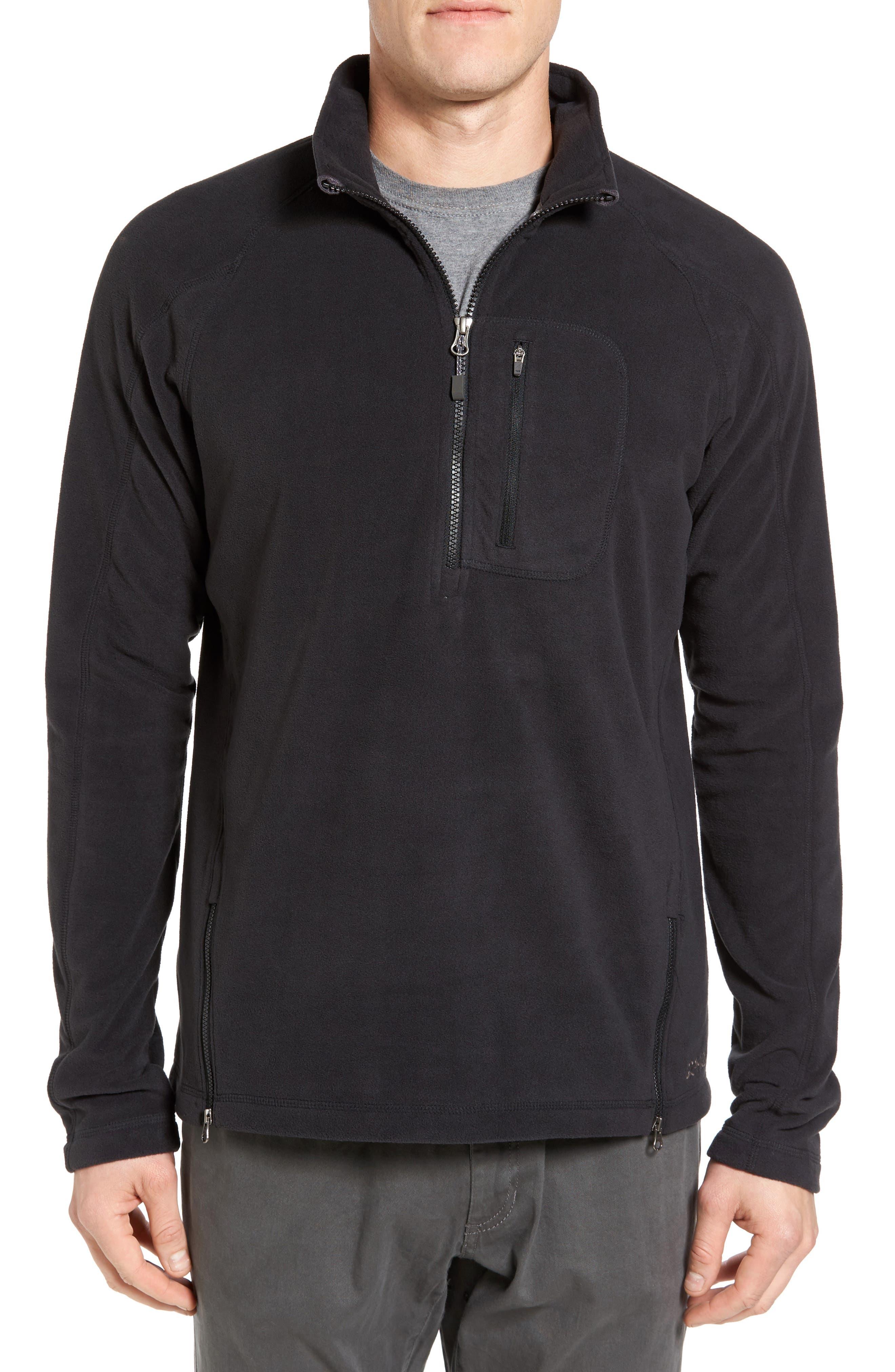 Utility Quarter Zip Fleece Sweater,                         Main,                         color, 002