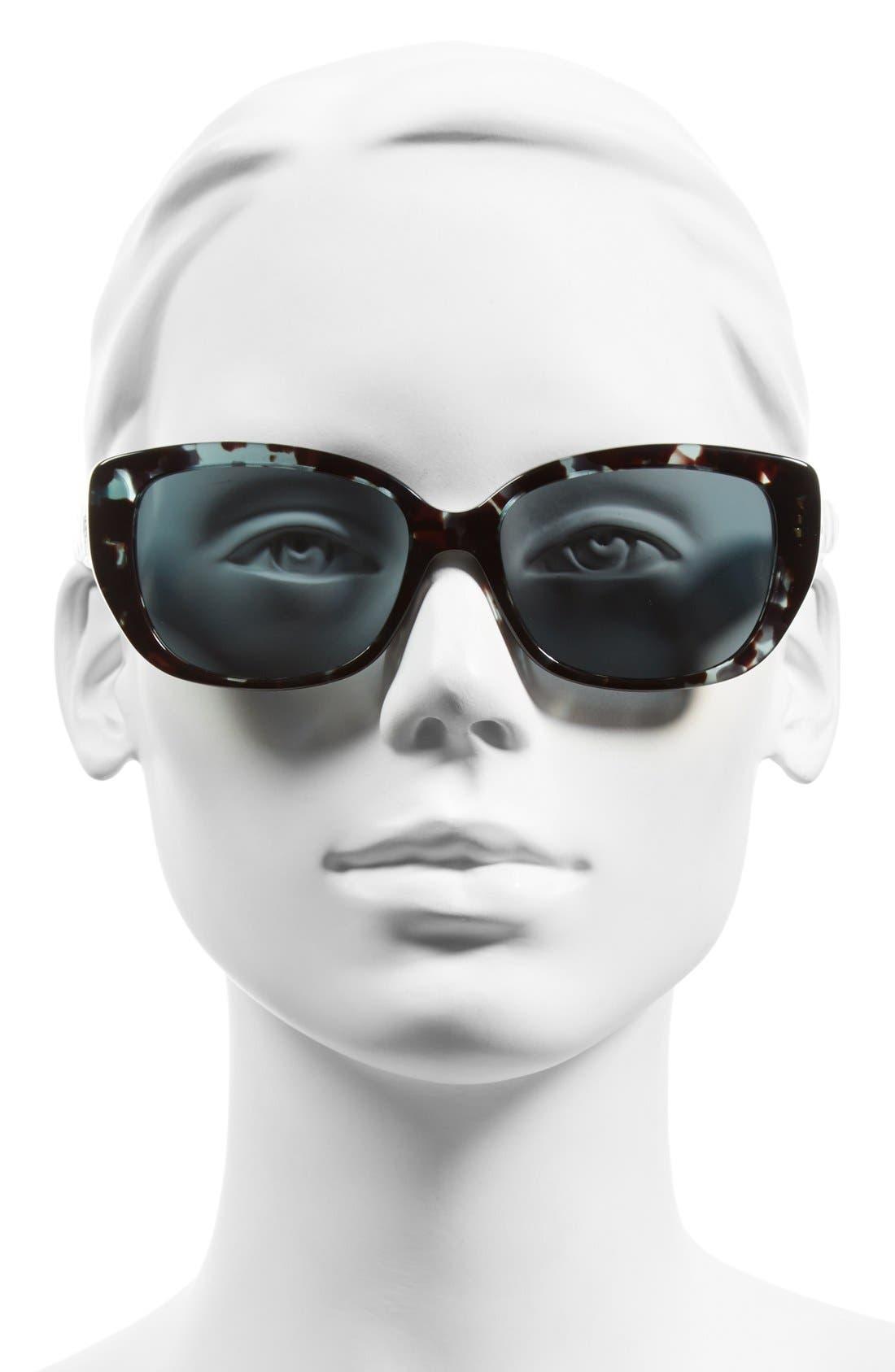 Lady 55mm Cat Eye Sunglasses,                             Alternate thumbnail 8, color,