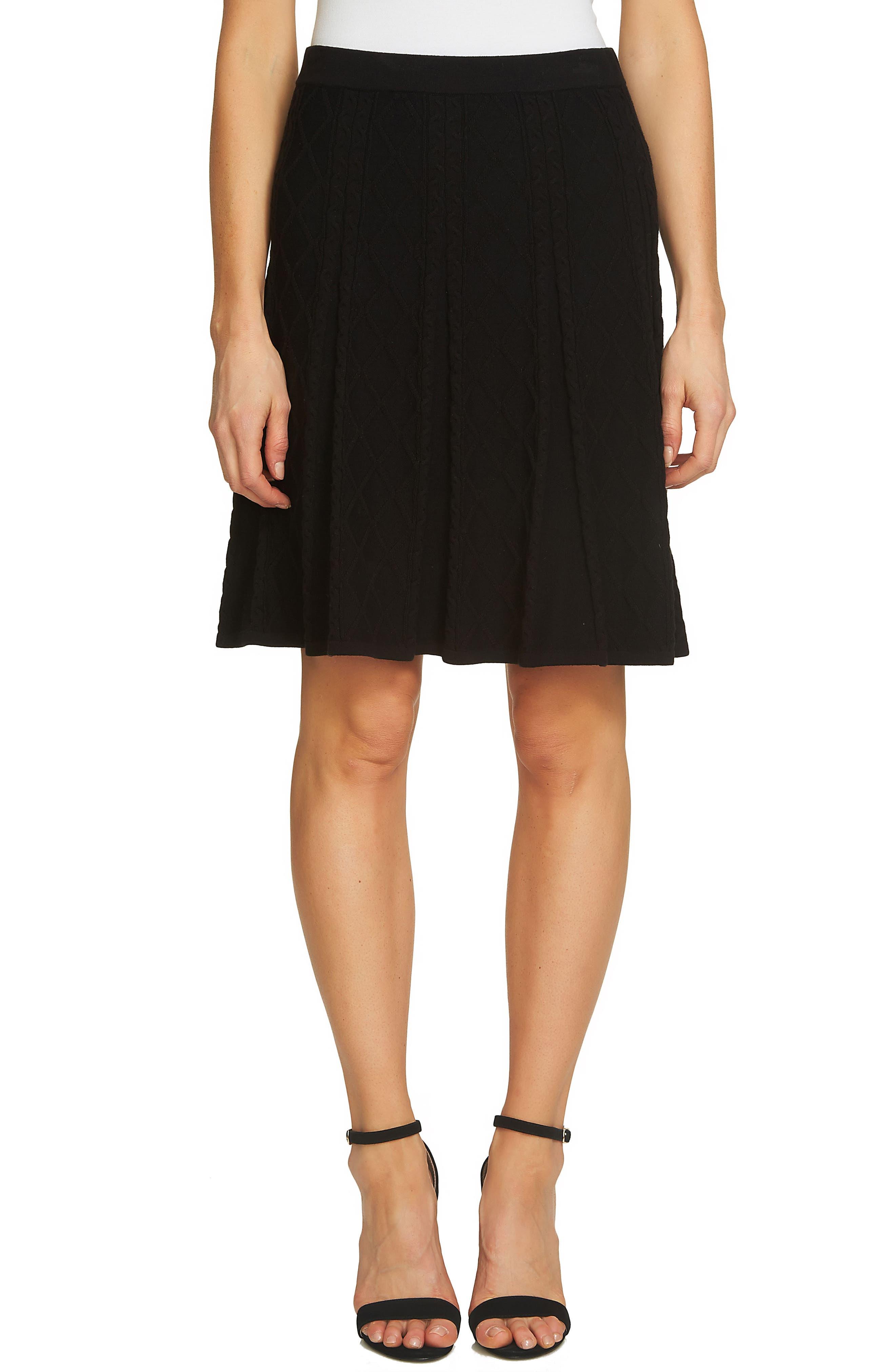 Jacquard Knit Skirt,                         Main,                         color, 010