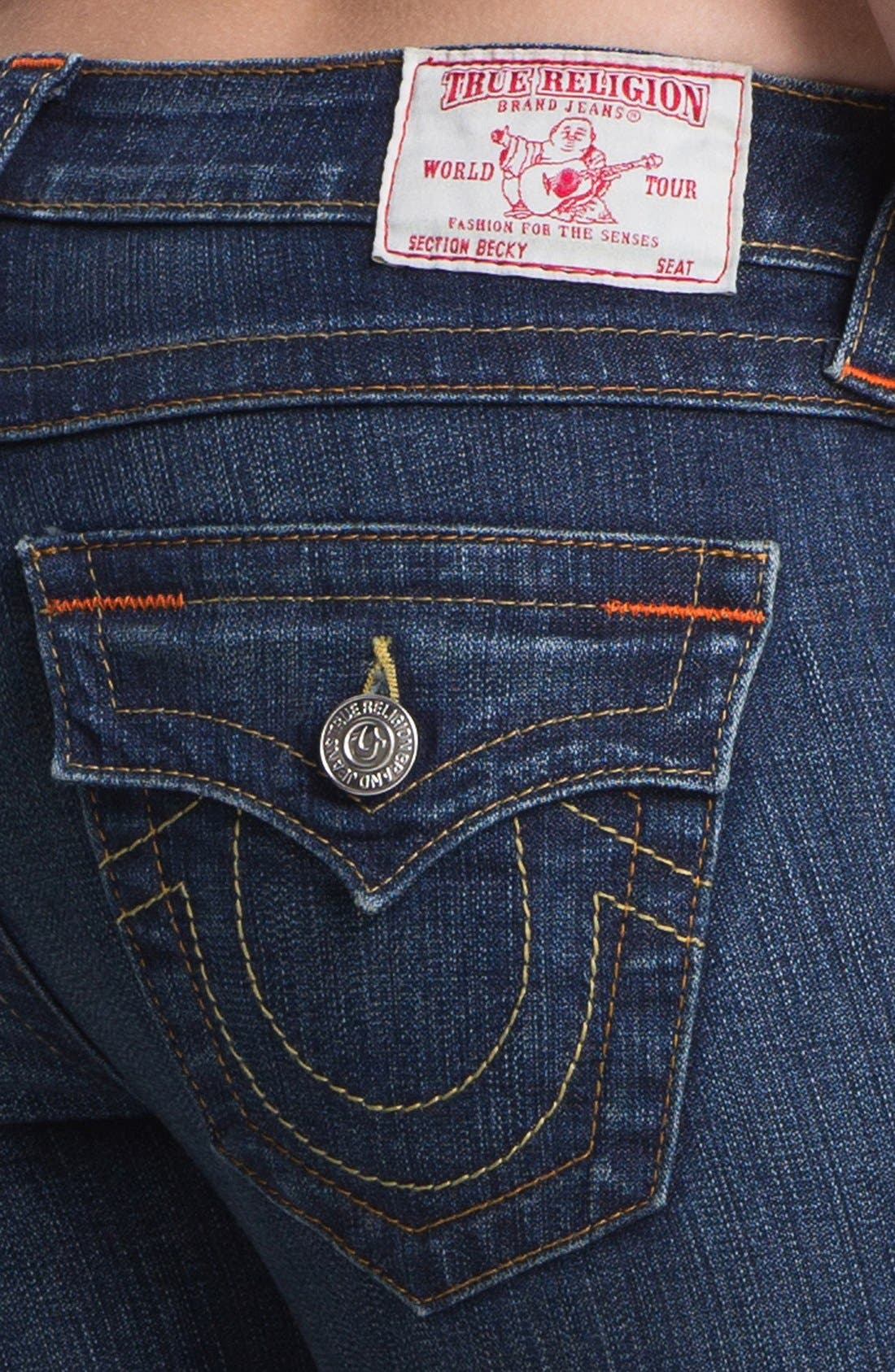 'Becky' Bootcut Jeans,                             Alternate thumbnail 3, color,                             400