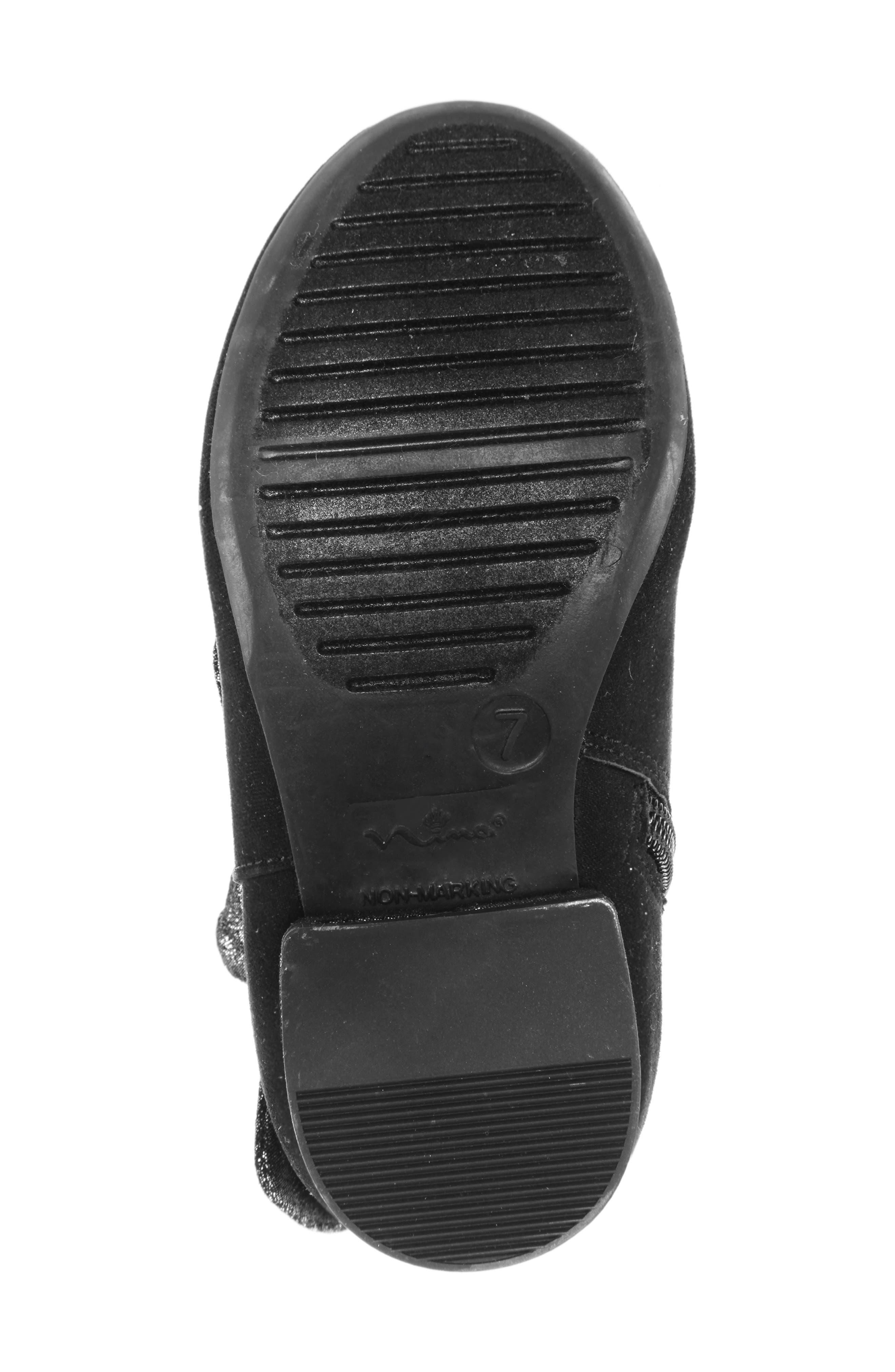 Evelin Block Heel Bootie,                             Alternate thumbnail 6, color,                             BLACK MICRO SUEDE