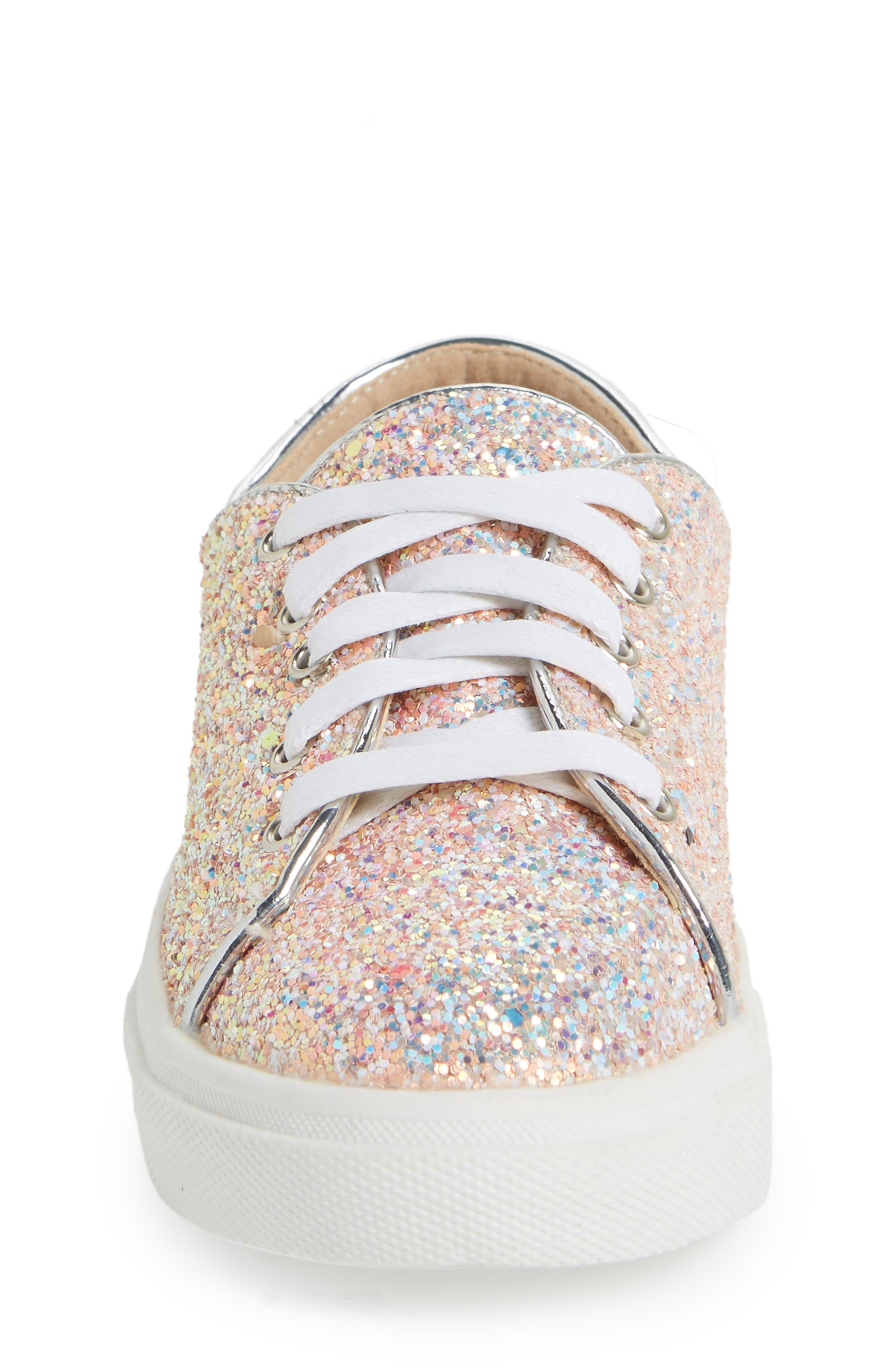 YOSI SAMRA,                             Miss Bowery Glitter Sneaker,                             Alternate thumbnail 4, color,                             182
