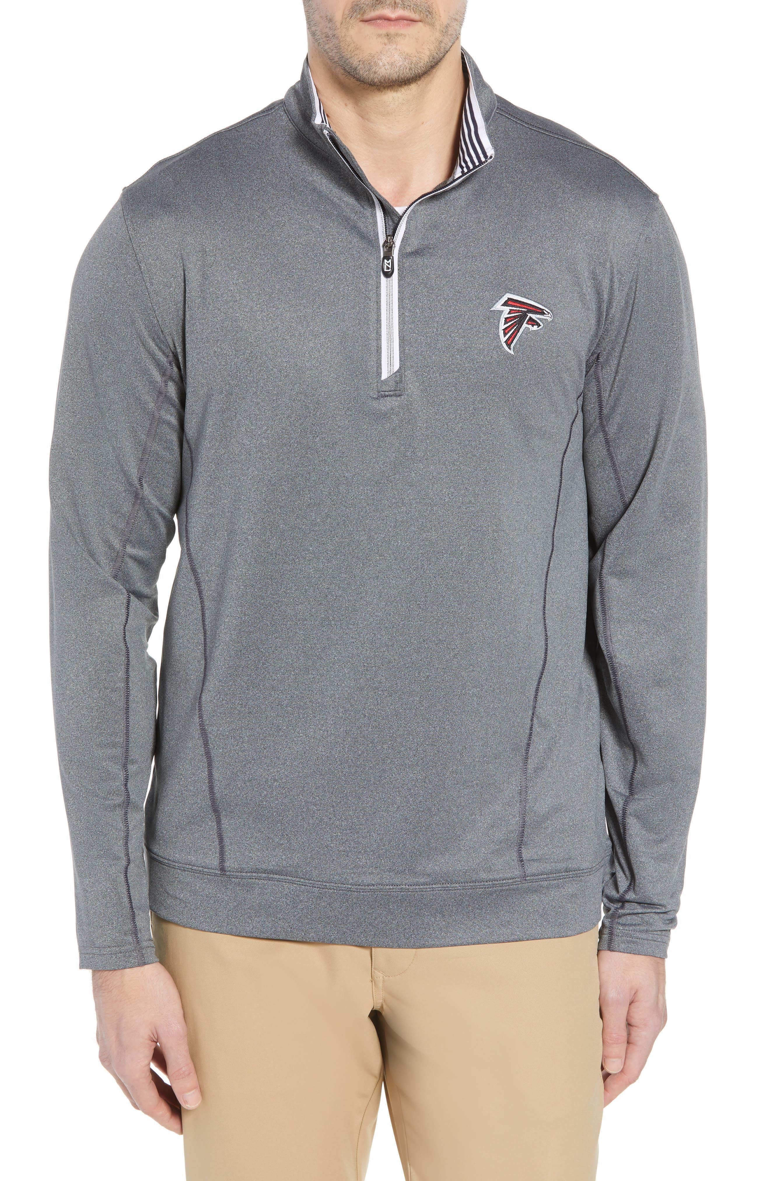 Endurance Atlanta Falcons Regular Fit Pullover,                         Main,                         color, CHARCOAL HEATHER