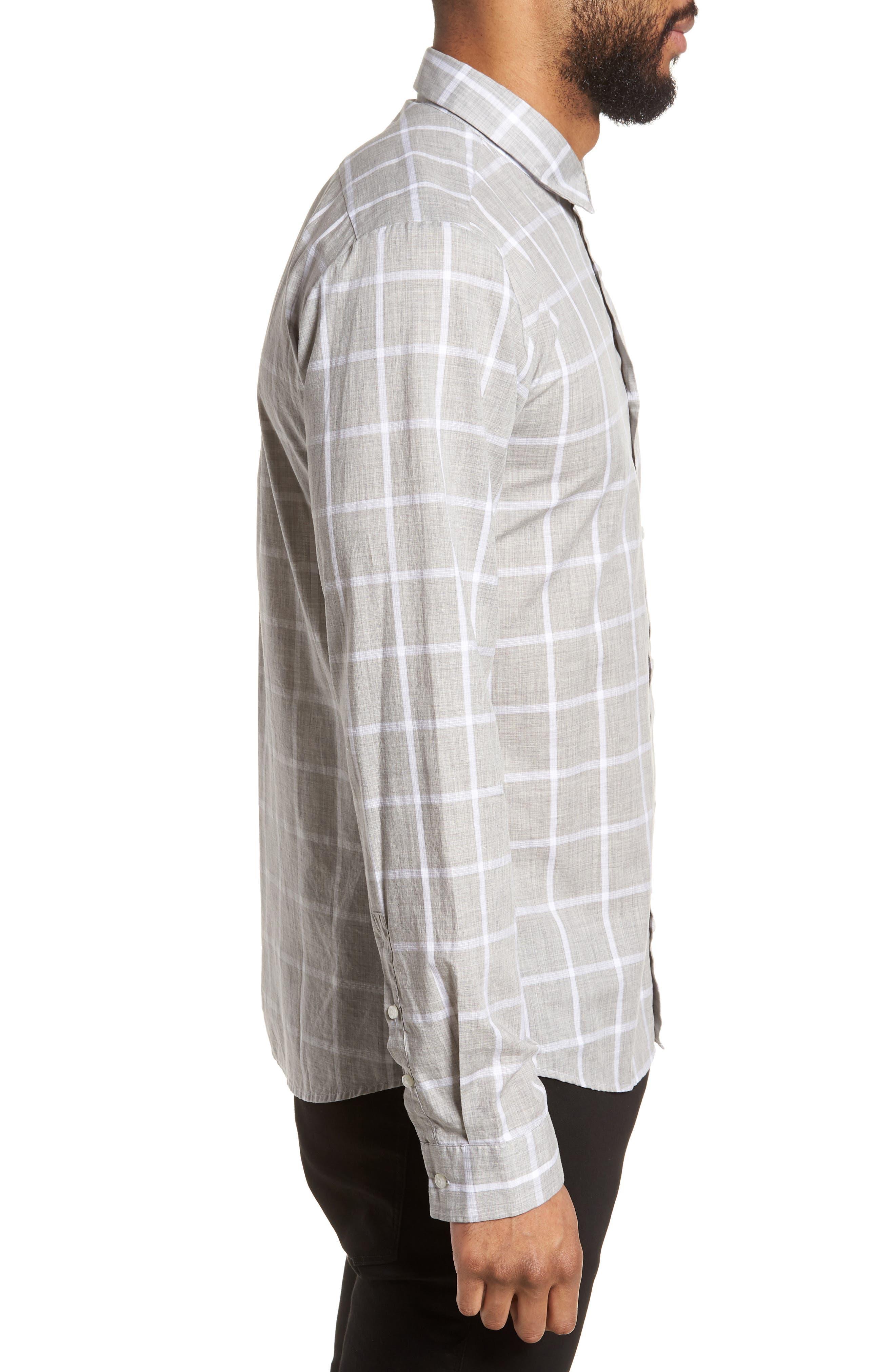 Ero Slim Fit Check Sport Shirt,                             Alternate thumbnail 3, color,                             061