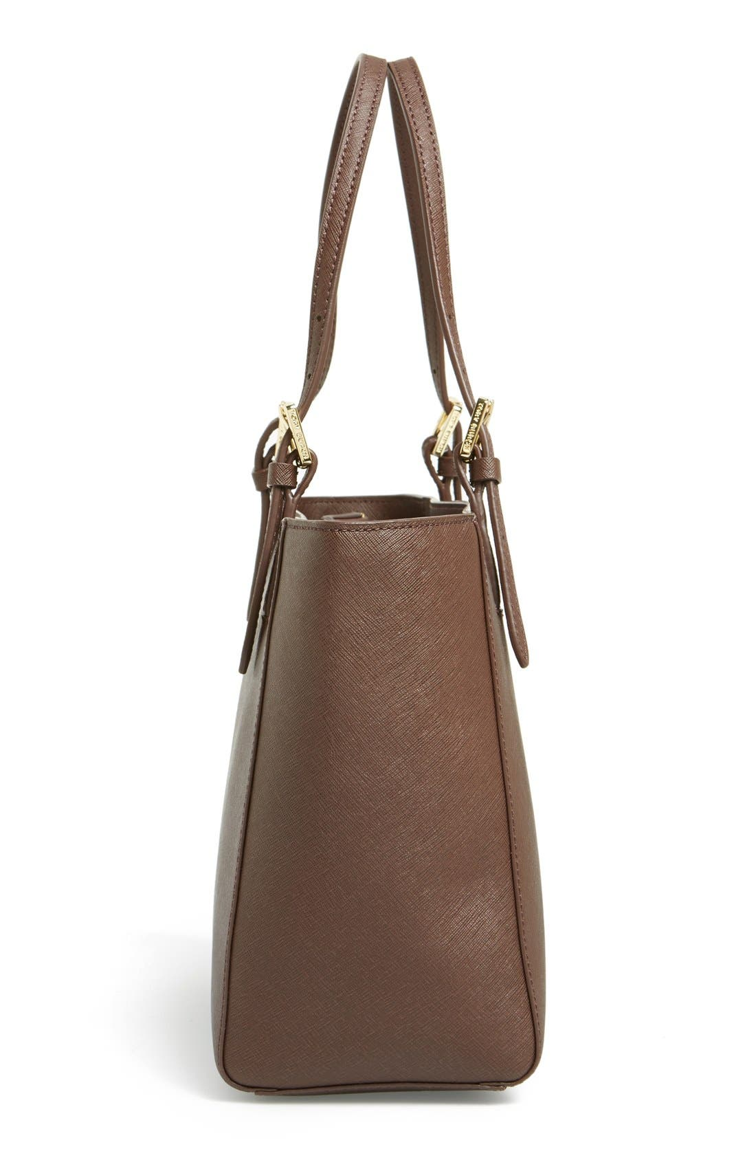 'Small York' Saffiano Leather Buckle Tote,                             Alternate thumbnail 34, color,