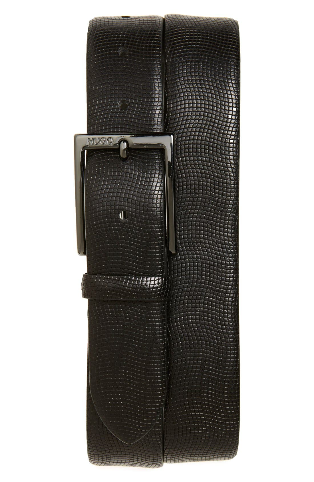 'Perries' Leather Belt,                             Main thumbnail 1, color,