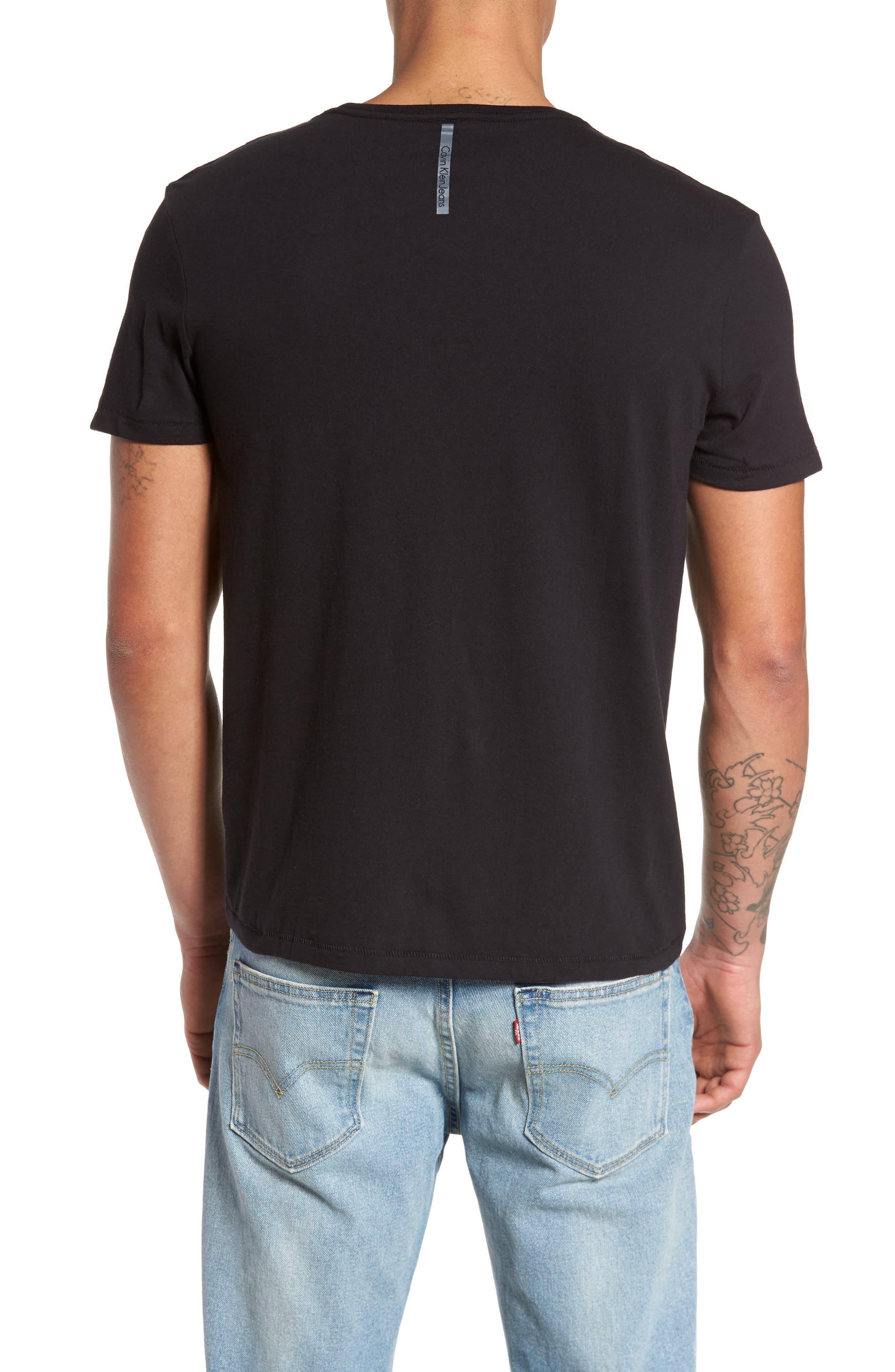 Flocked Logo T-Shirt,                             Alternate thumbnail 2, color,                             010