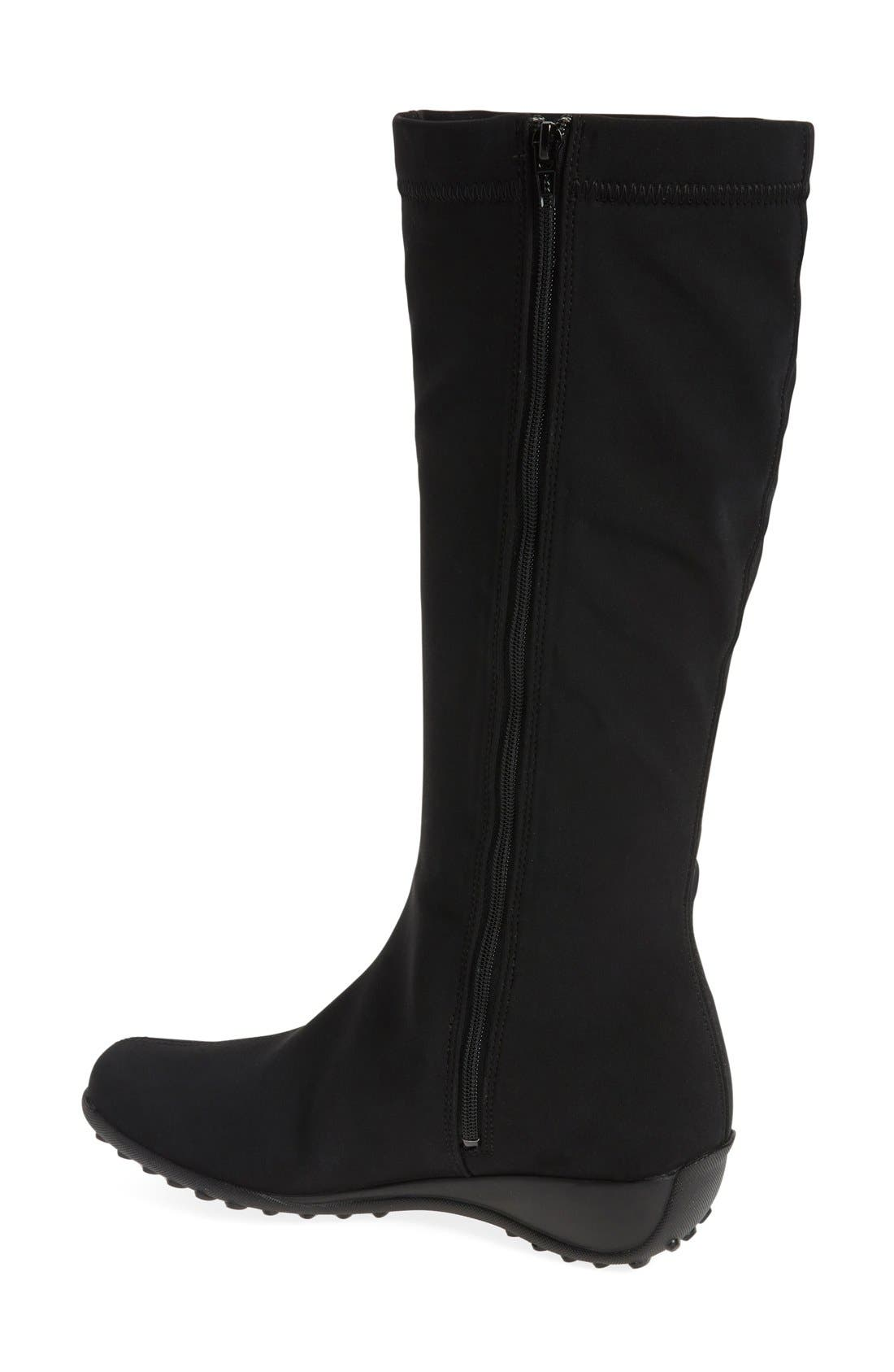 'Linda' Waterproof Stretch Boot,                             Alternate thumbnail 6, color,                             009